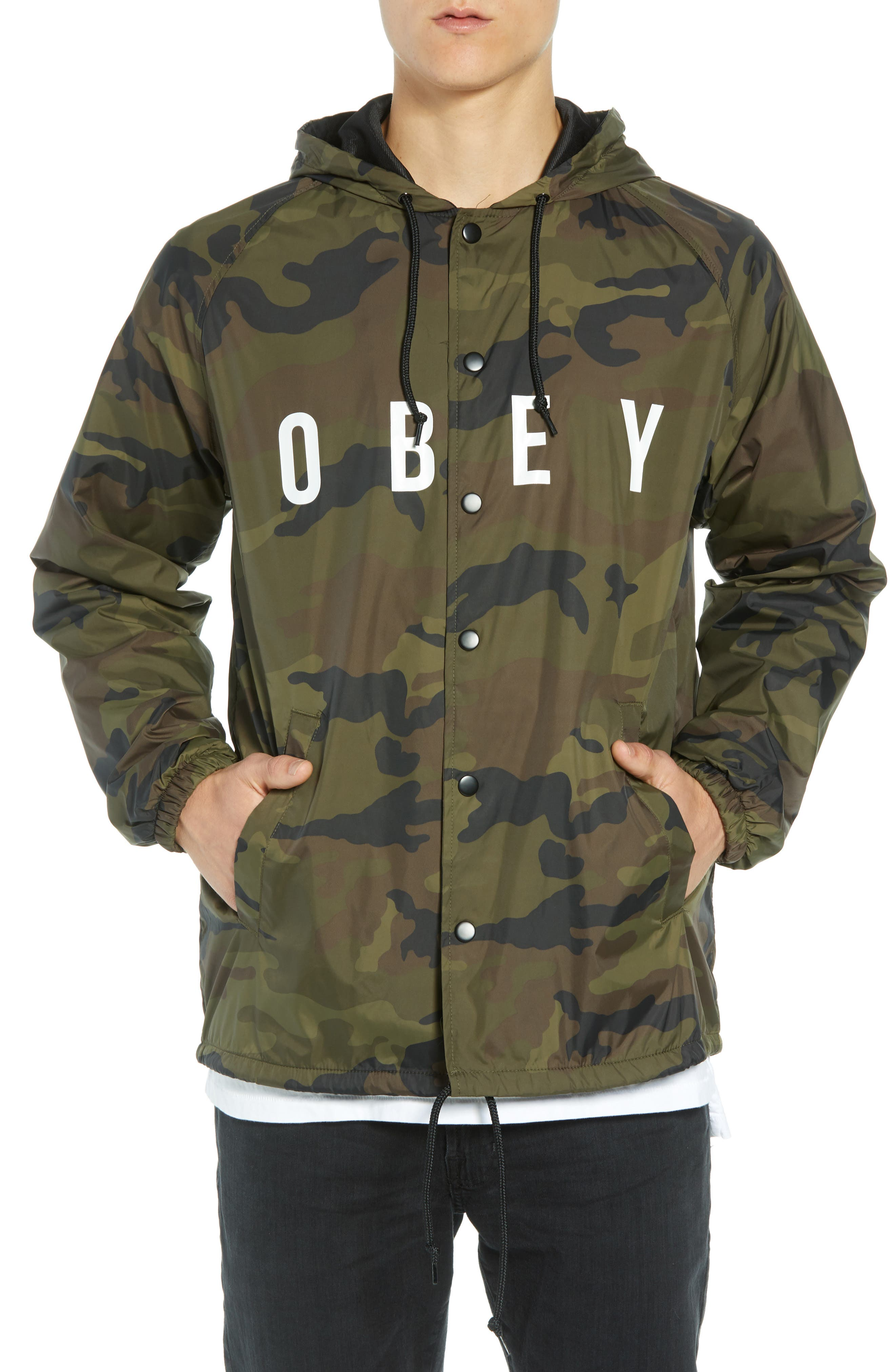 Anyway Coach's Jacket,                             Alternate thumbnail 4, color,                             CAMO