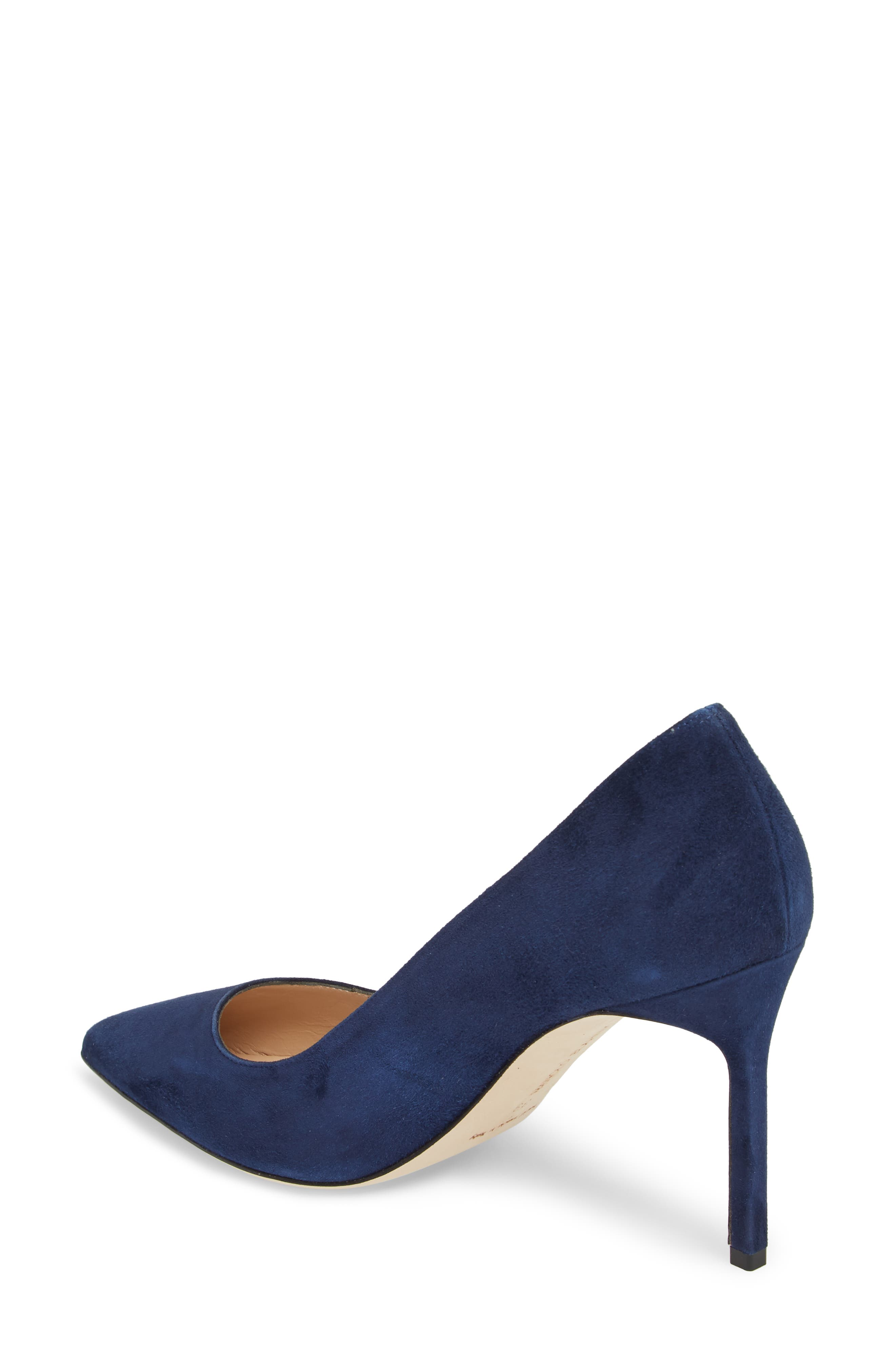 BB Pointy Toe Pump,                             Alternate thumbnail 2, color,                             NAVY SUEDE