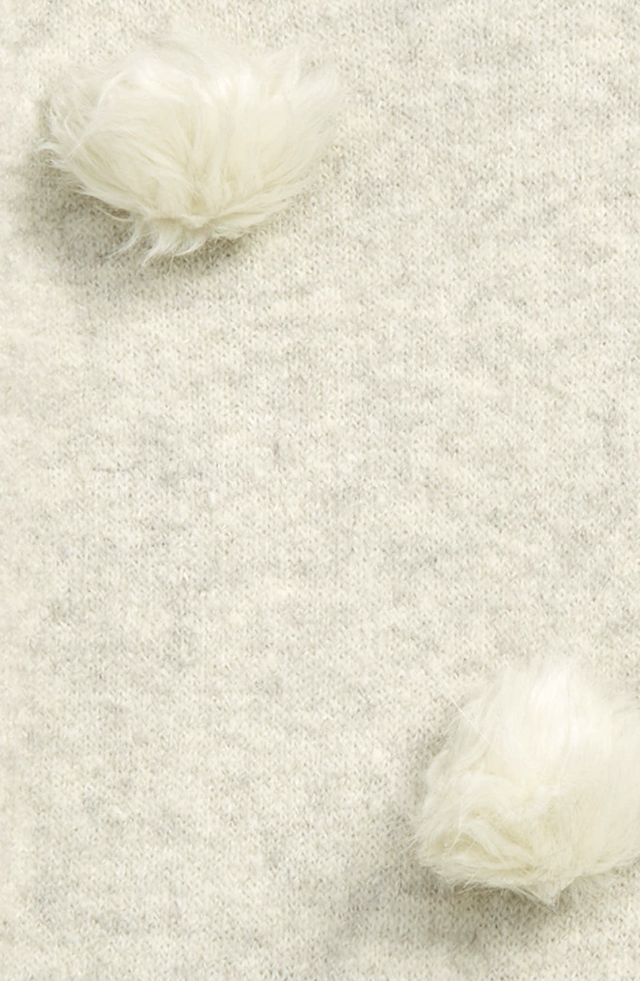 Faux Fur Pompom Sweater,                             Alternate thumbnail 2, color,                             IVORY EGRET HEATHER