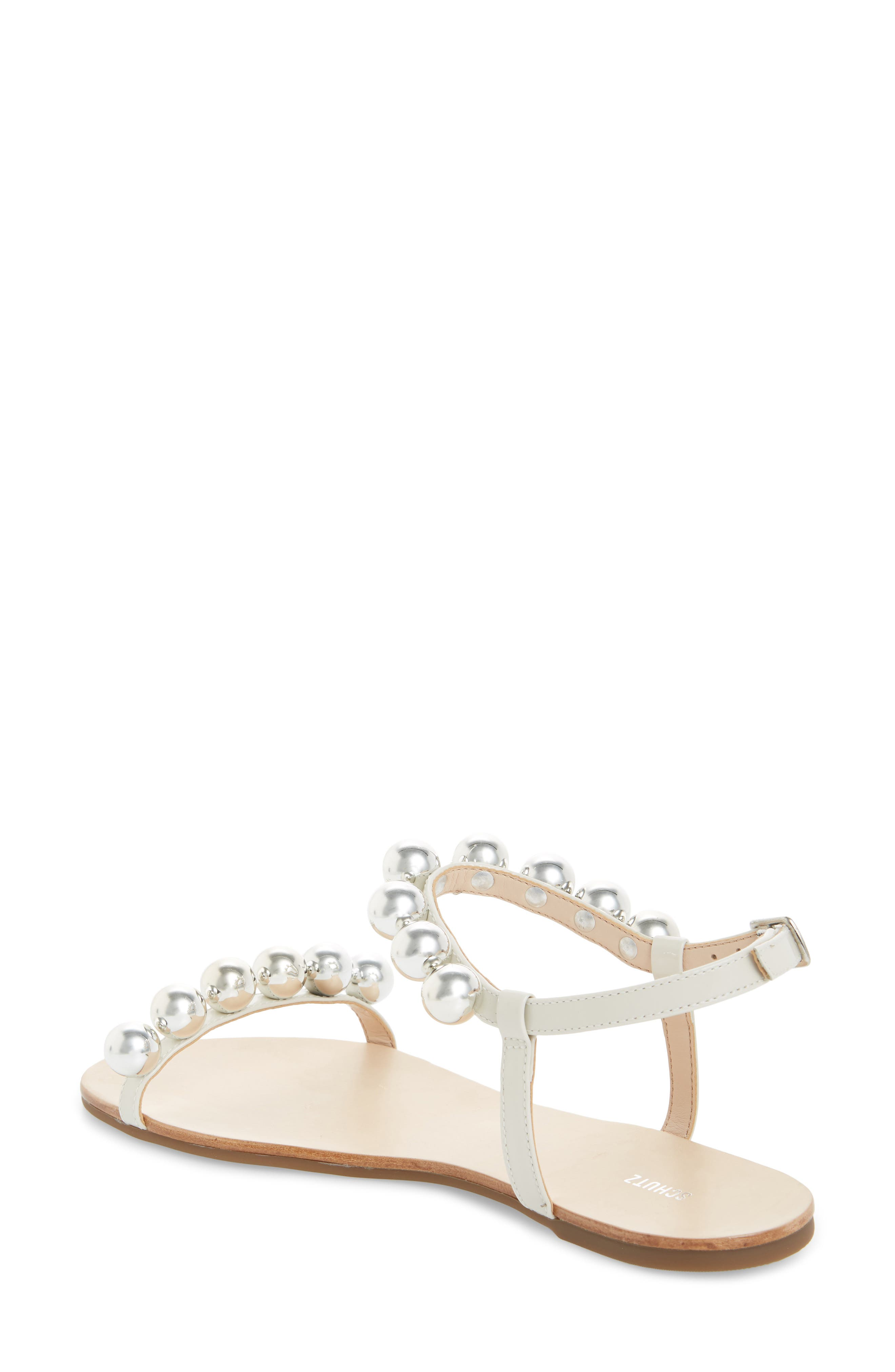 Hebe Ankle Strap Sandal,                             Alternate thumbnail 2, color,                             PEARL LEATHER