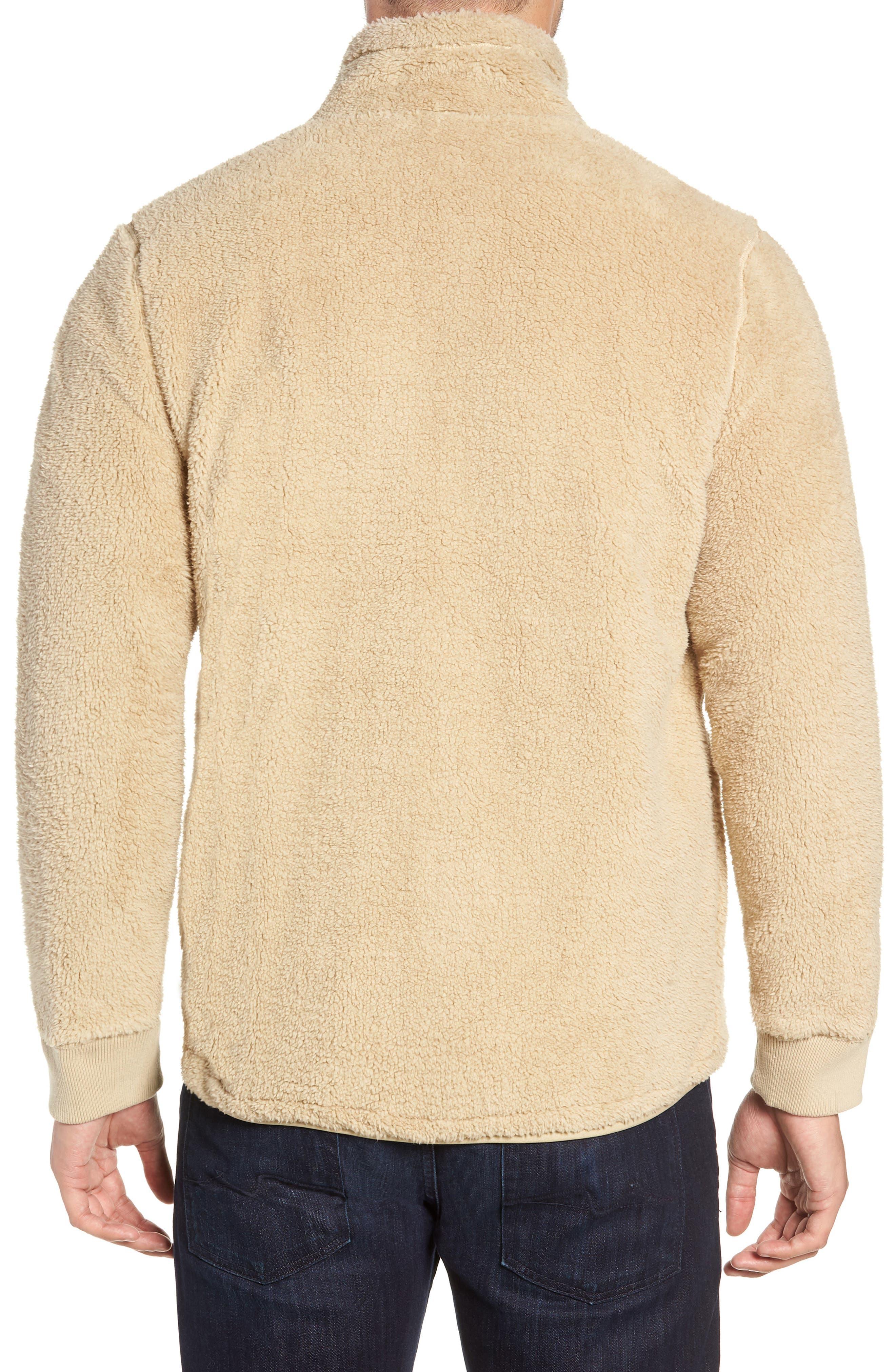 Lucas High Pile Fleece Sweater Jacket,                             Alternate thumbnail 2, color,                             SAND