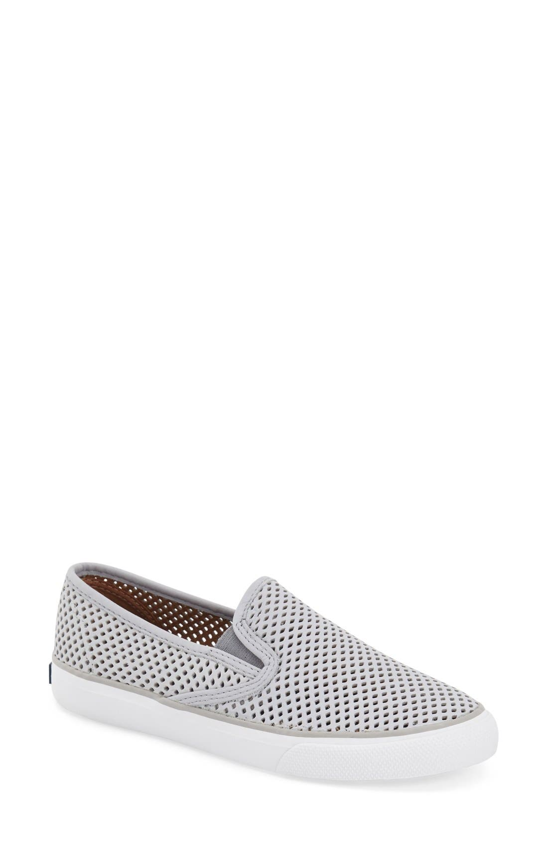 'Seaside' Perforated Slip-On Sneaker,                             Main thumbnail 4, color,
