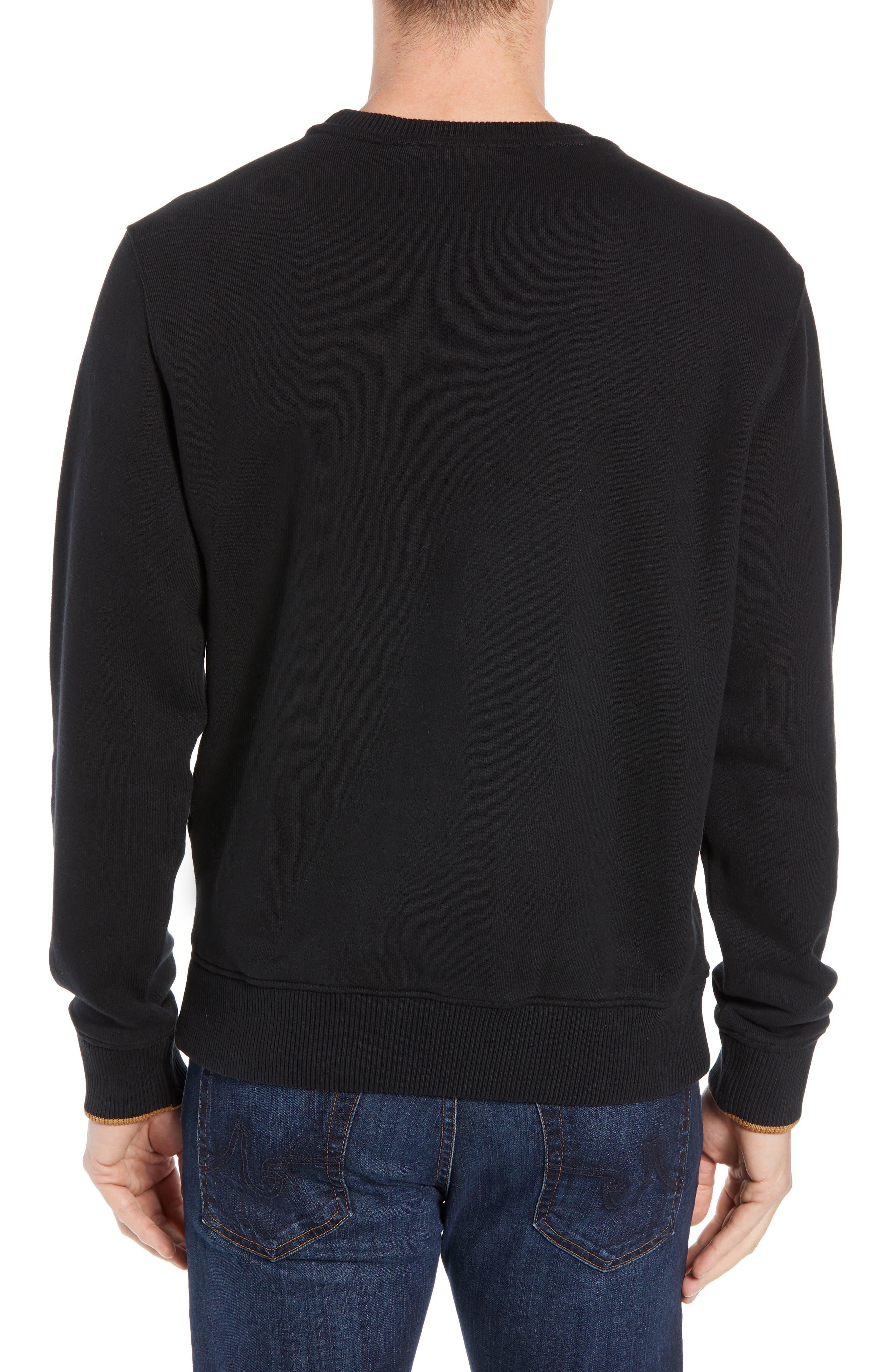 Elevated Logo Crewneck Sweatshirt,                             Alternate thumbnail 2, color,                             BLACK