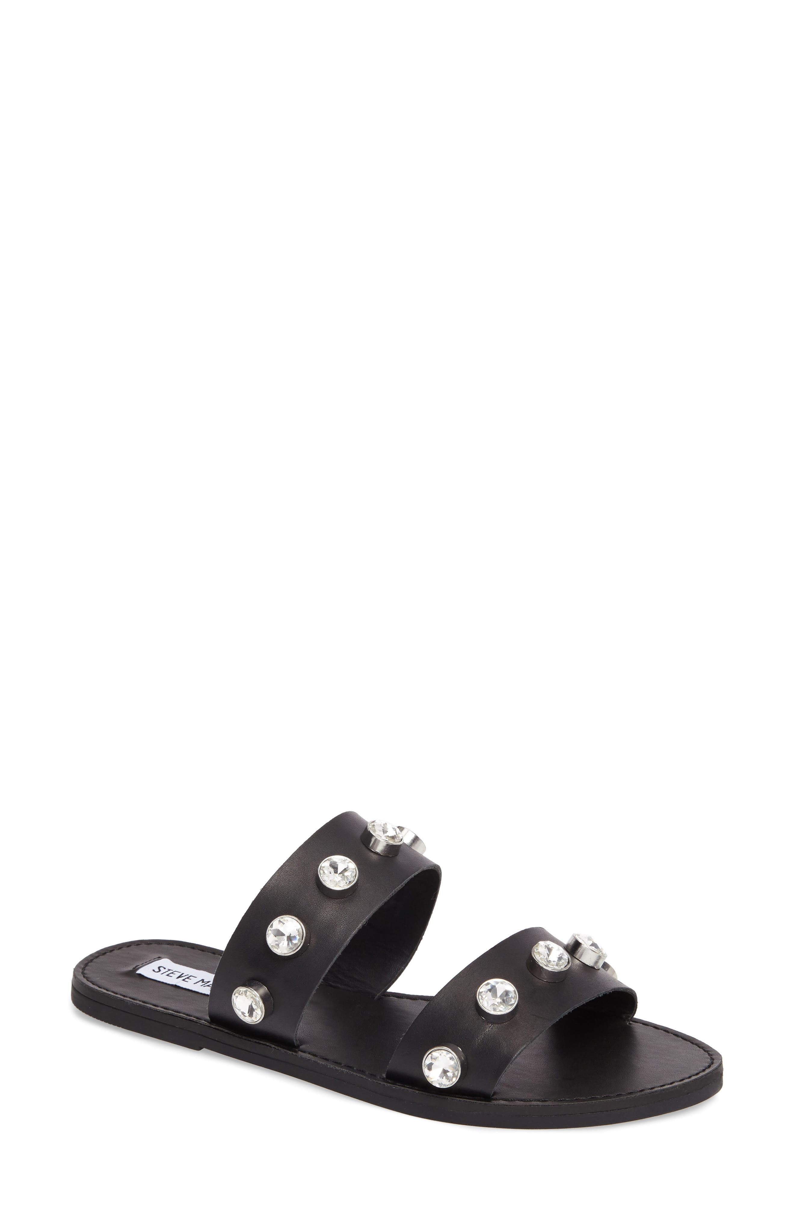 Jessy Embellished Slide Sandal,                             Main thumbnail 1, color,                             001