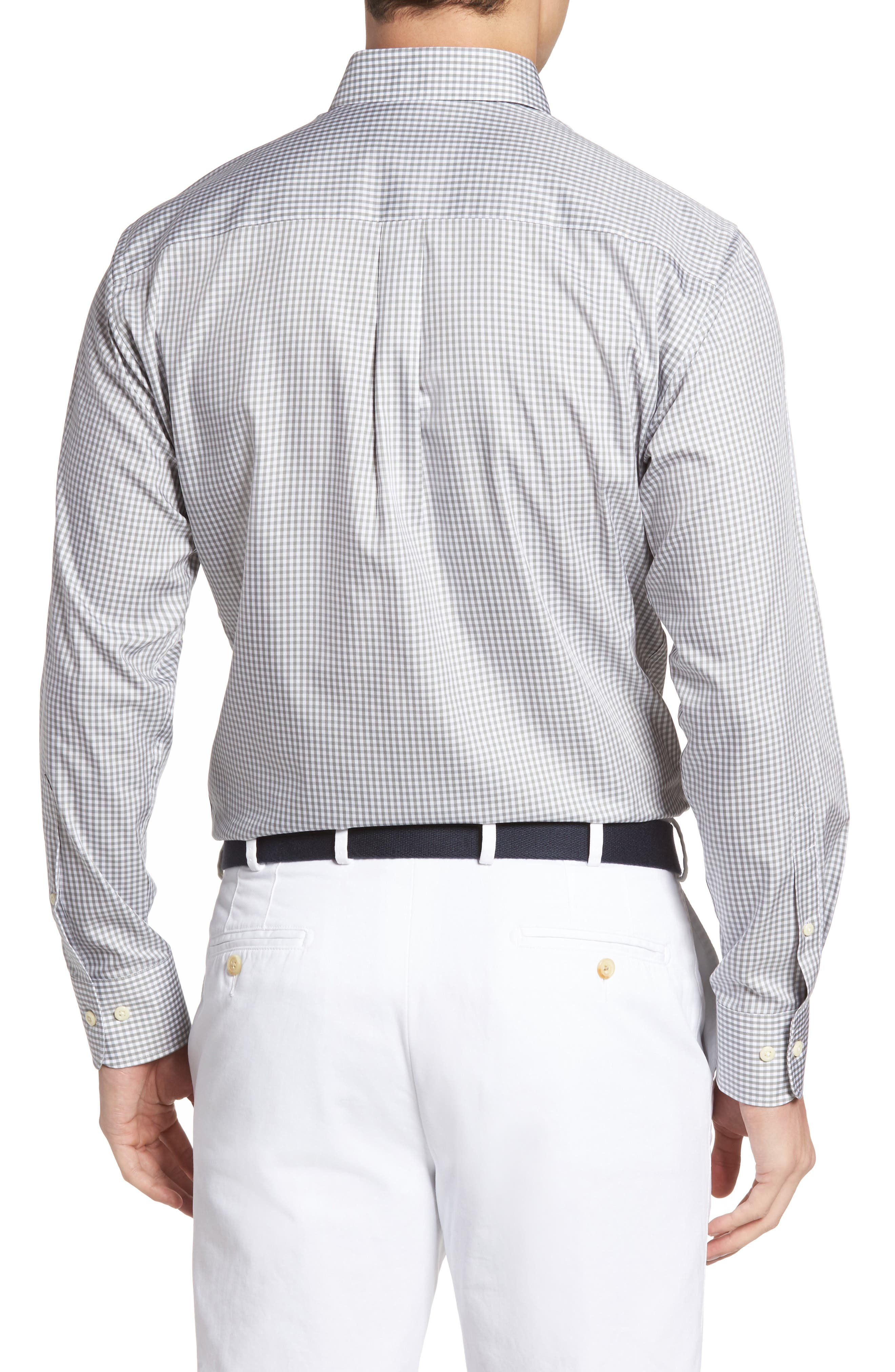Crown Soft Gingham Regular Fit Sport Shirt,                             Alternate thumbnail 8, color,