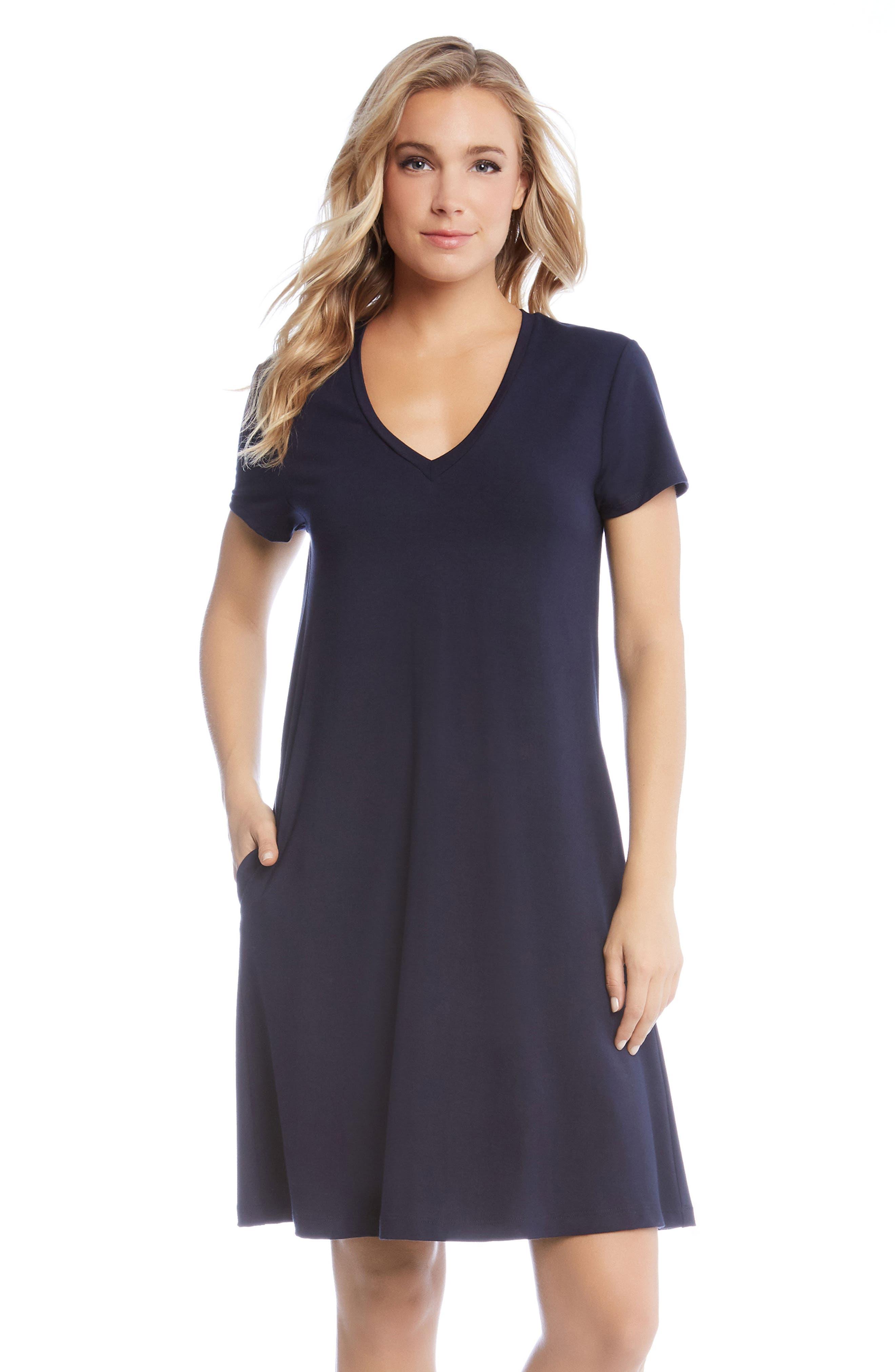 Quinn Pocket Shift Dress,                             Alternate thumbnail 3, color,                             NAVY