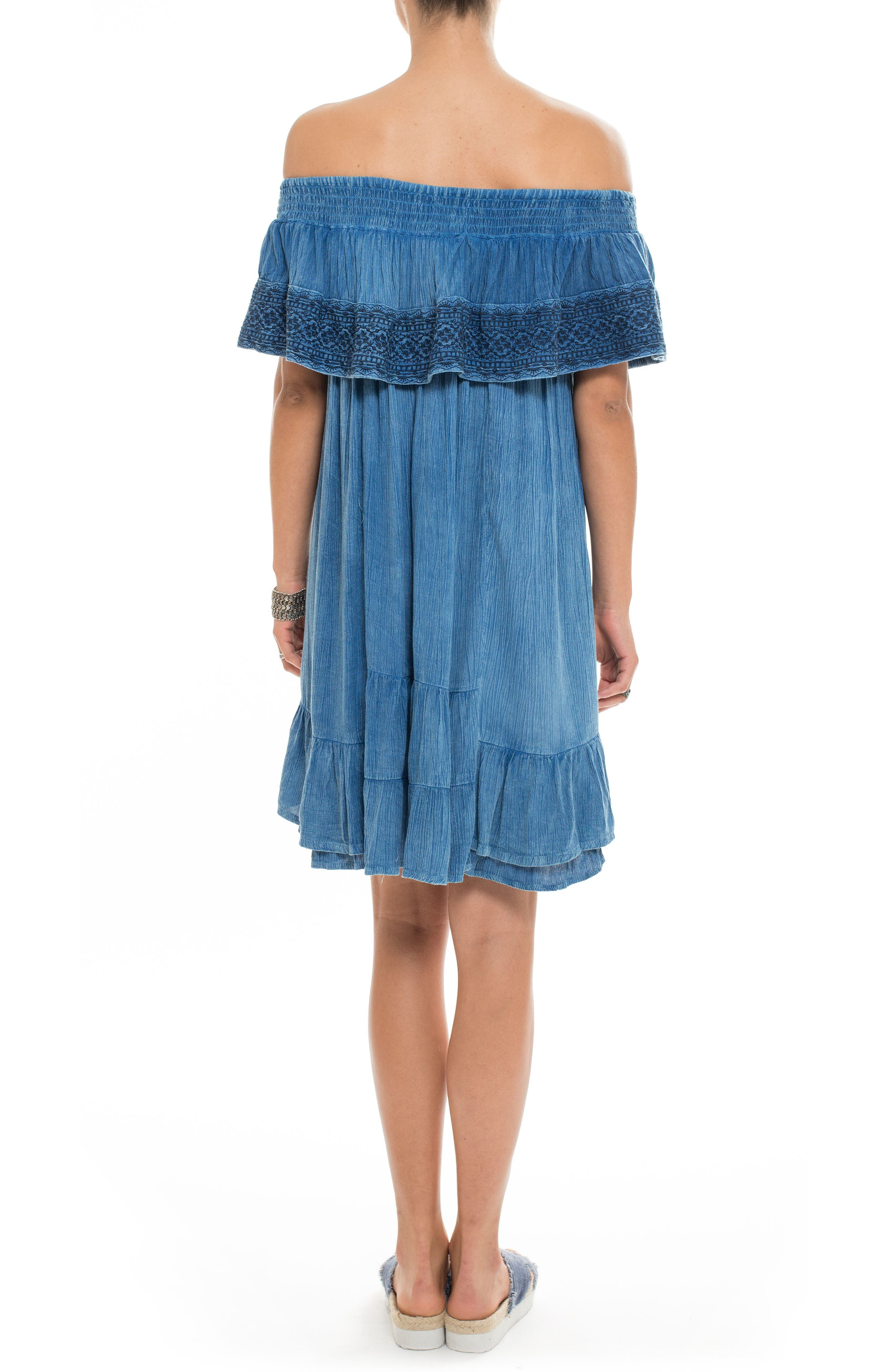 Gavin Ruffle Cover-Up Dress,                             Alternate thumbnail 4, color,