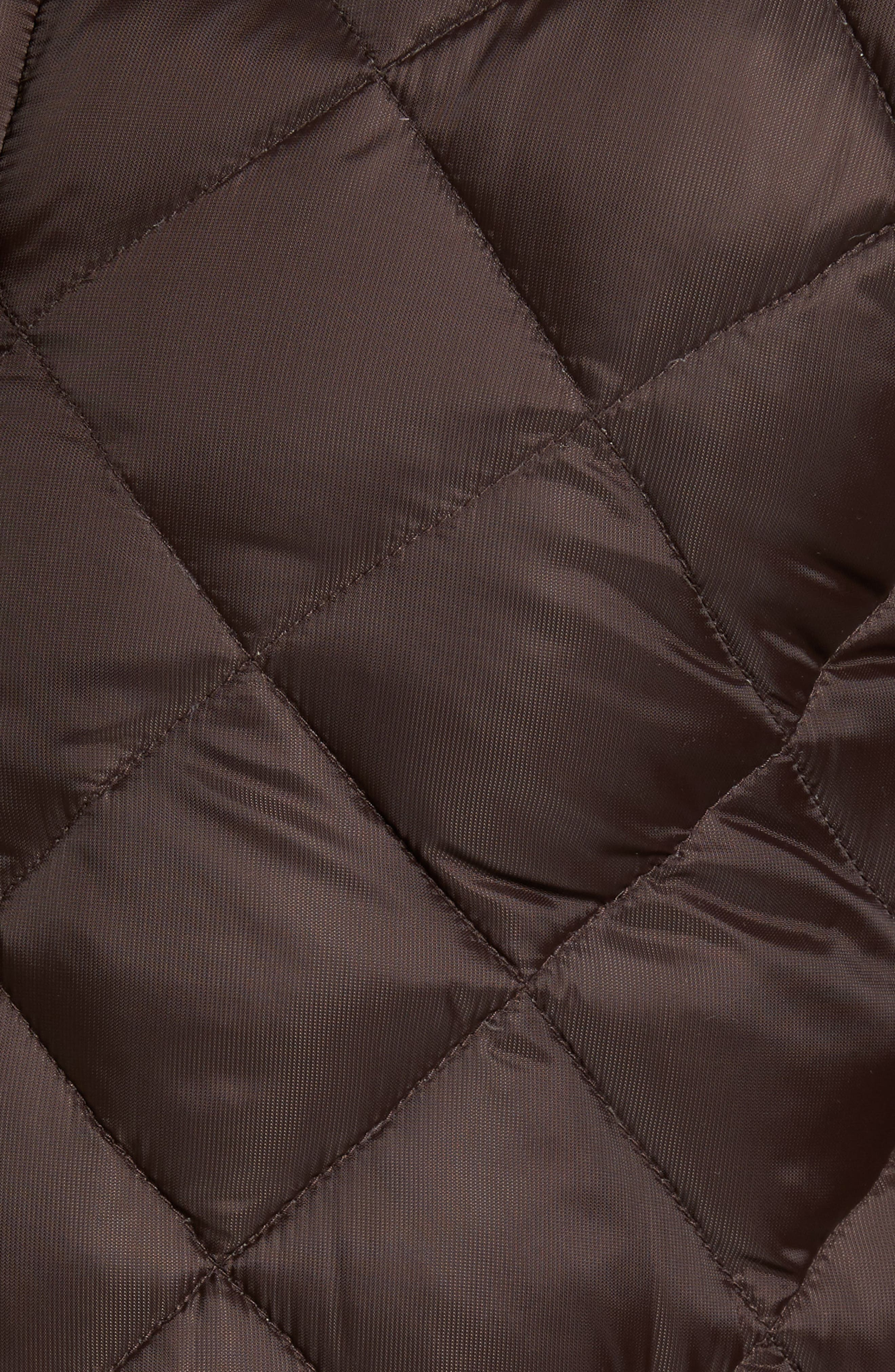 Hendriksen Quilted Down Coat,                             Alternate thumbnail 6, color,                             CHARRED WOOD