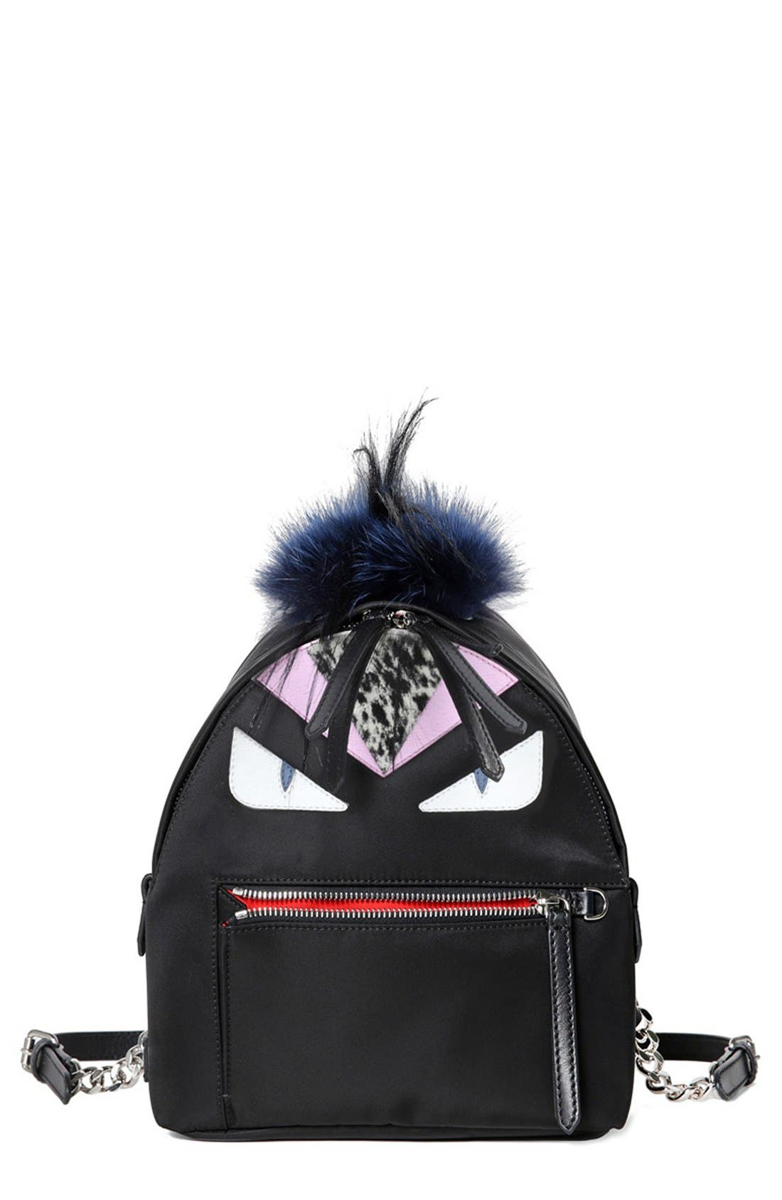 'Mini Monster' Nylon Backpack, Main, color, 001