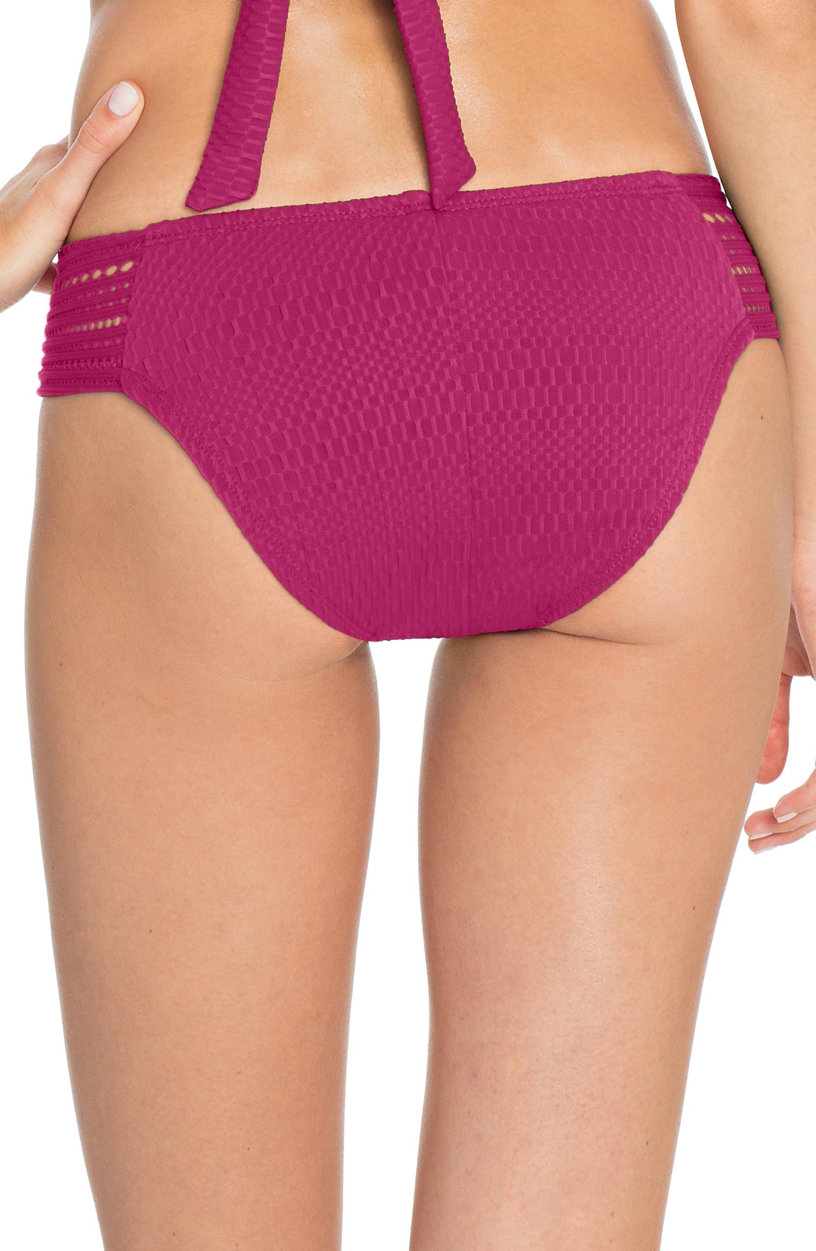 ROBIN PICCONE,                             Perla Crochet Bikini Bottoms,                             Alternate thumbnail 2, color,                             ORCHID