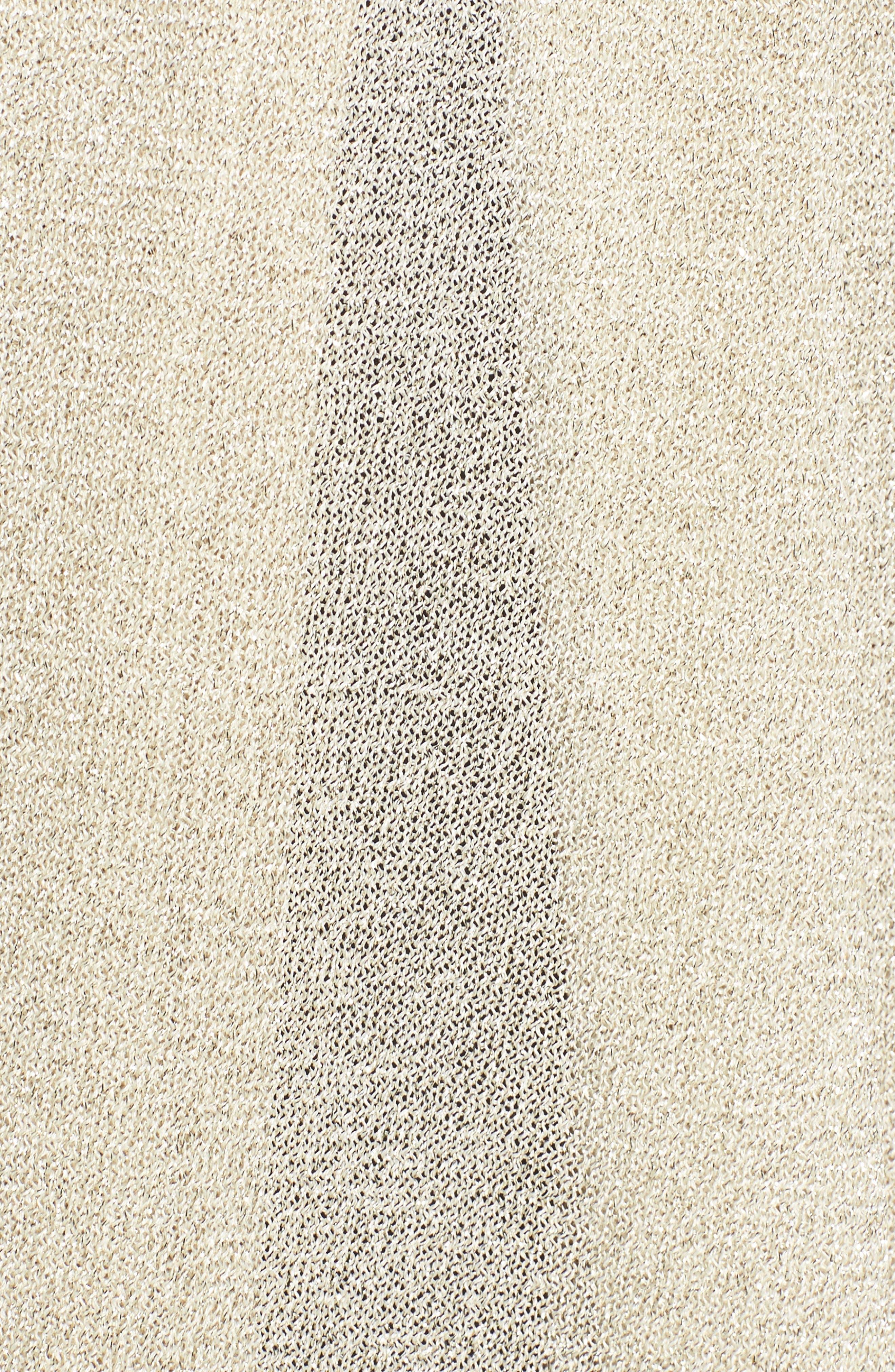 Metallic Knit Wrap,                             Alternate thumbnail 5, color,                             710