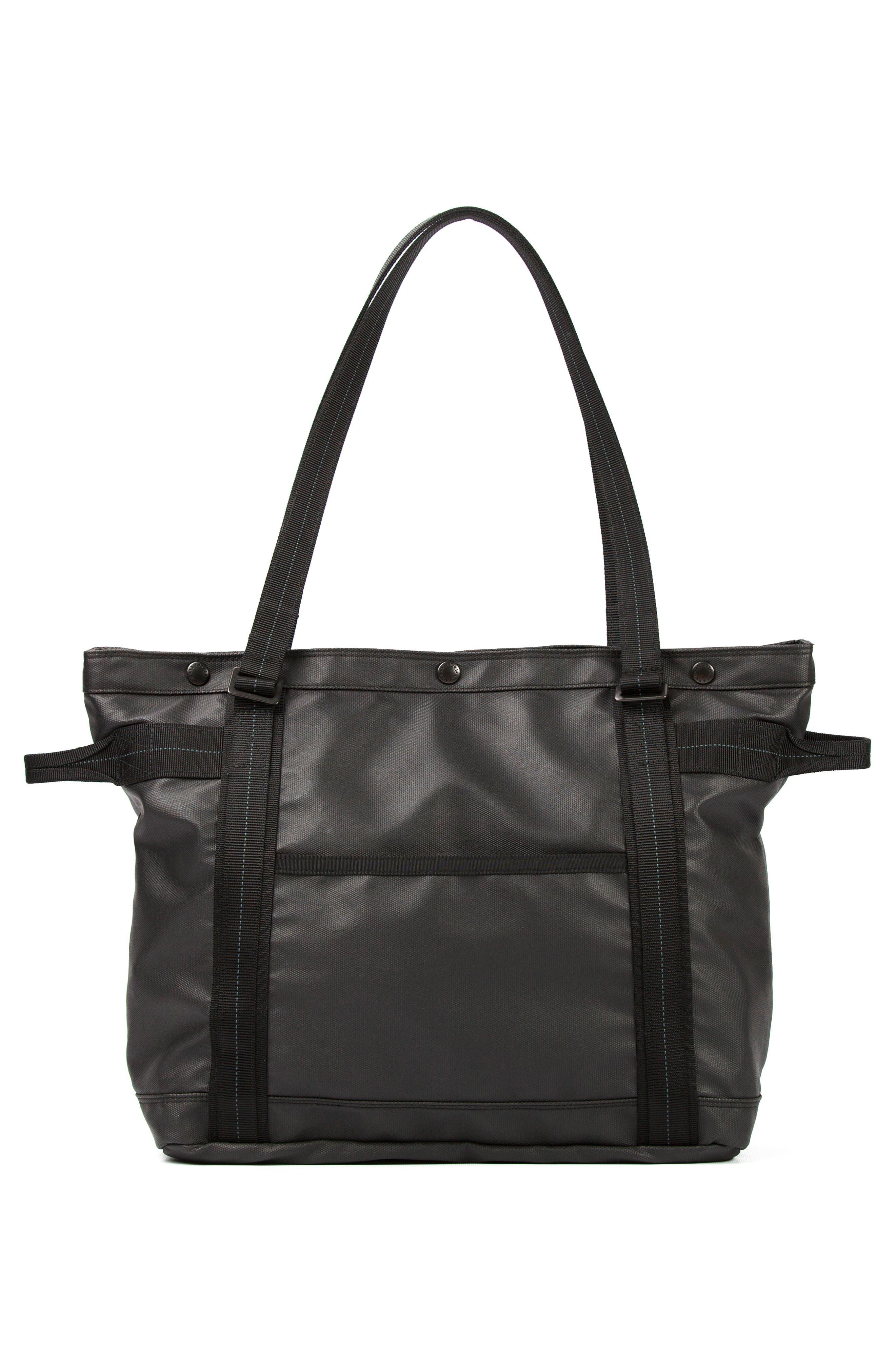 'NightHawk' Tote Bag,                             Alternate thumbnail 6, color,                             BLACK
