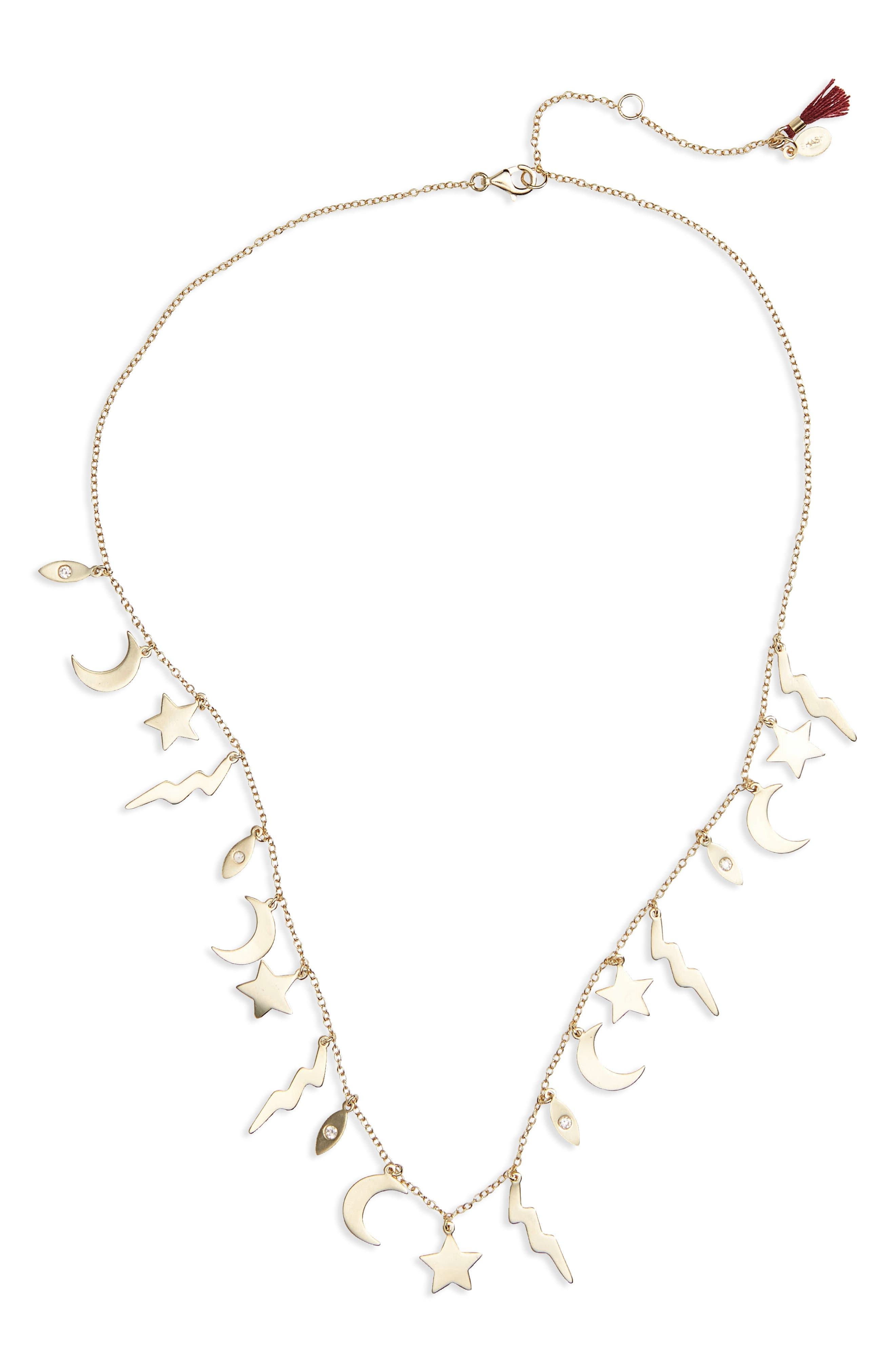 Multi Charm Necklace,                             Main thumbnail 1, color,                             700