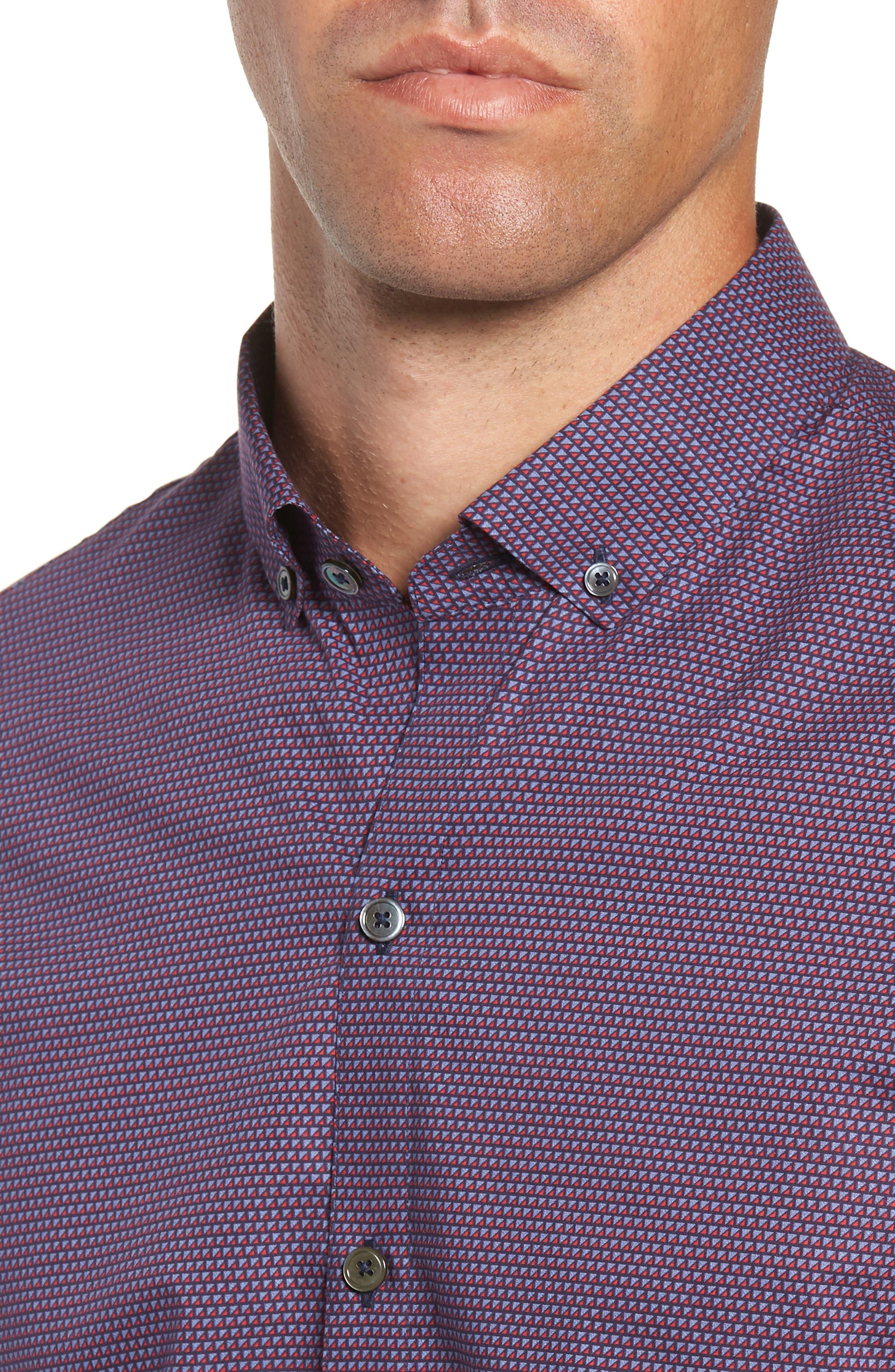 Samir Regular Fit Print Sport Shirt,                             Alternate thumbnail 2, color,                             RED