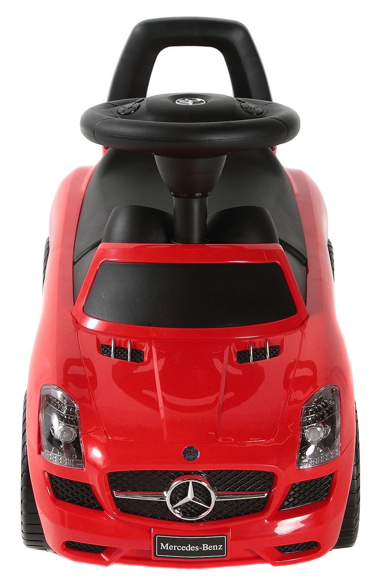 Mercedes Push Car,                             Alternate thumbnail 2, color,                             RED