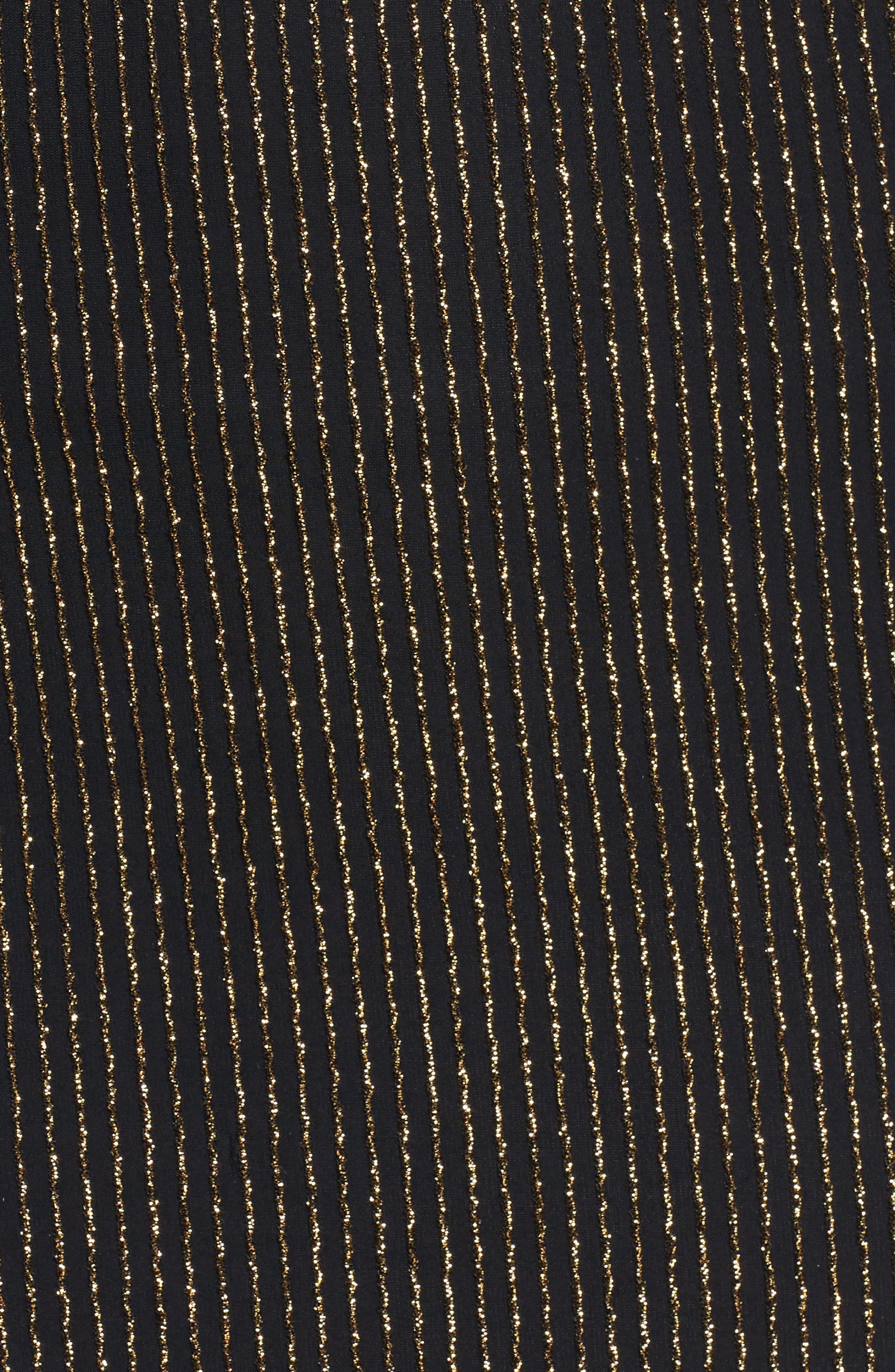 Twist Waist Metallic Dress,                             Alternate thumbnail 5, color,                             098