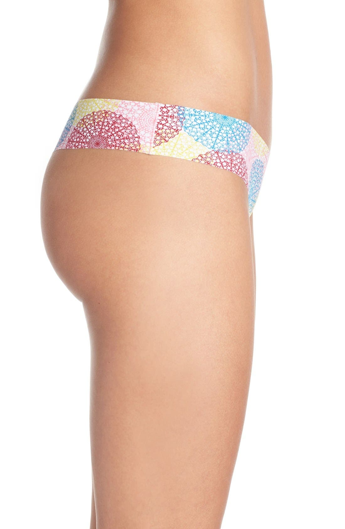 Print Microfiber Thong,                             Alternate thumbnail 257, color,