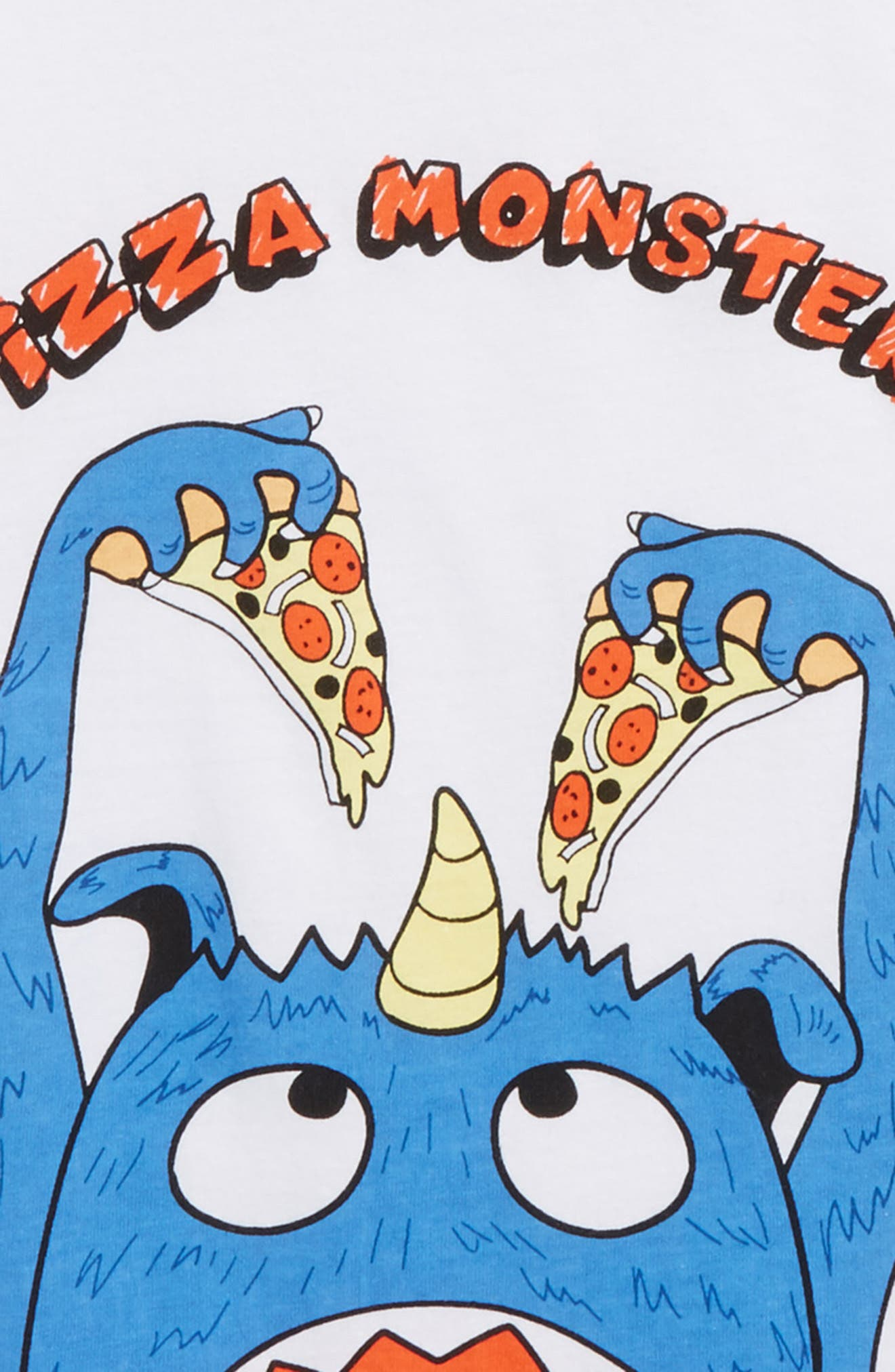 Pizza Monster Graphic T-Shirt,                             Alternate thumbnail 2, color,                             100