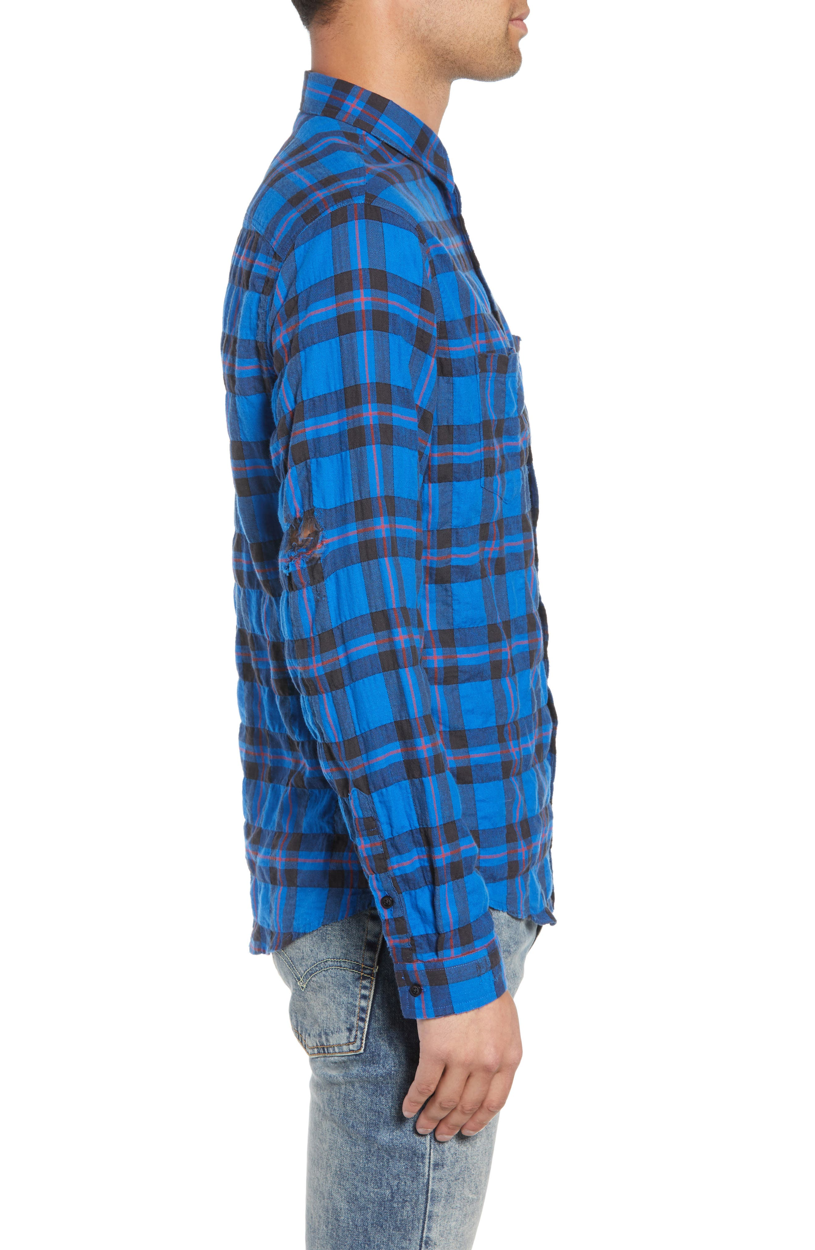 Regular Fit Plaid Sport Shirt,                             Alternate thumbnail 4, color,                             430
