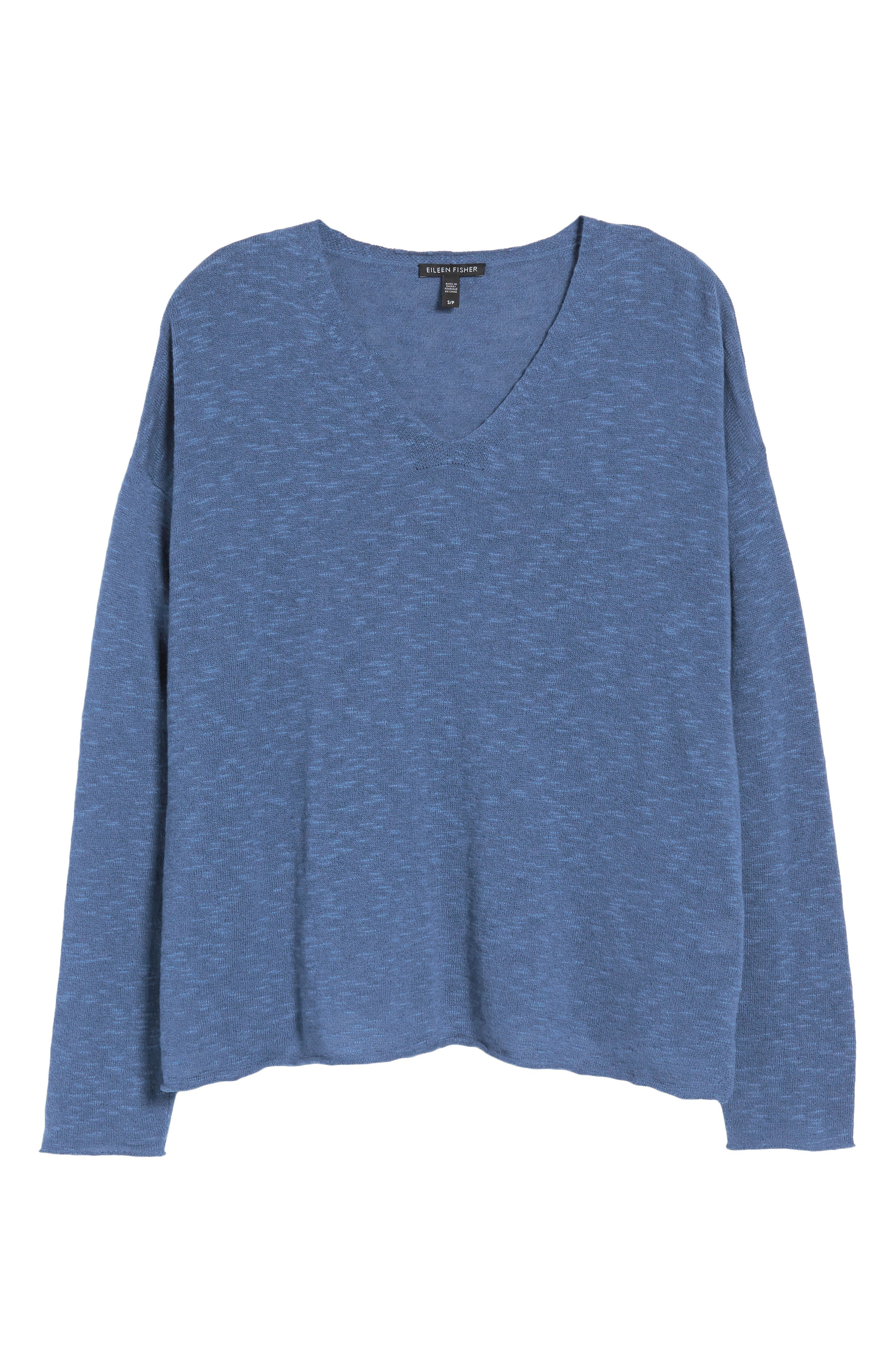 Boxy Organic Linen & Cotton Sweater,                             Alternate thumbnail 25, color,