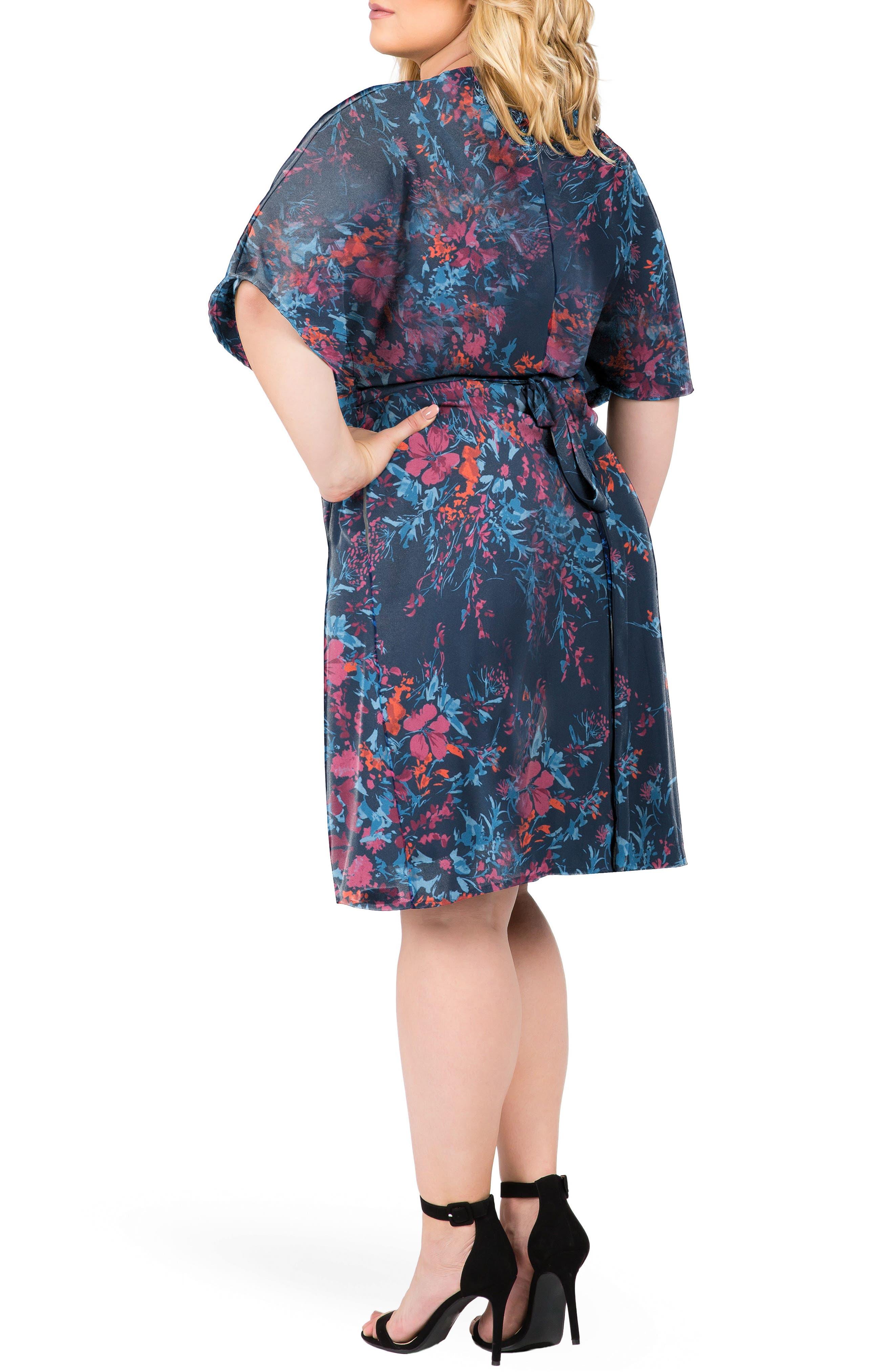 Candice Floral Wrap Dress,                             Alternate thumbnail 2, color,                             FLORAL PRINT
