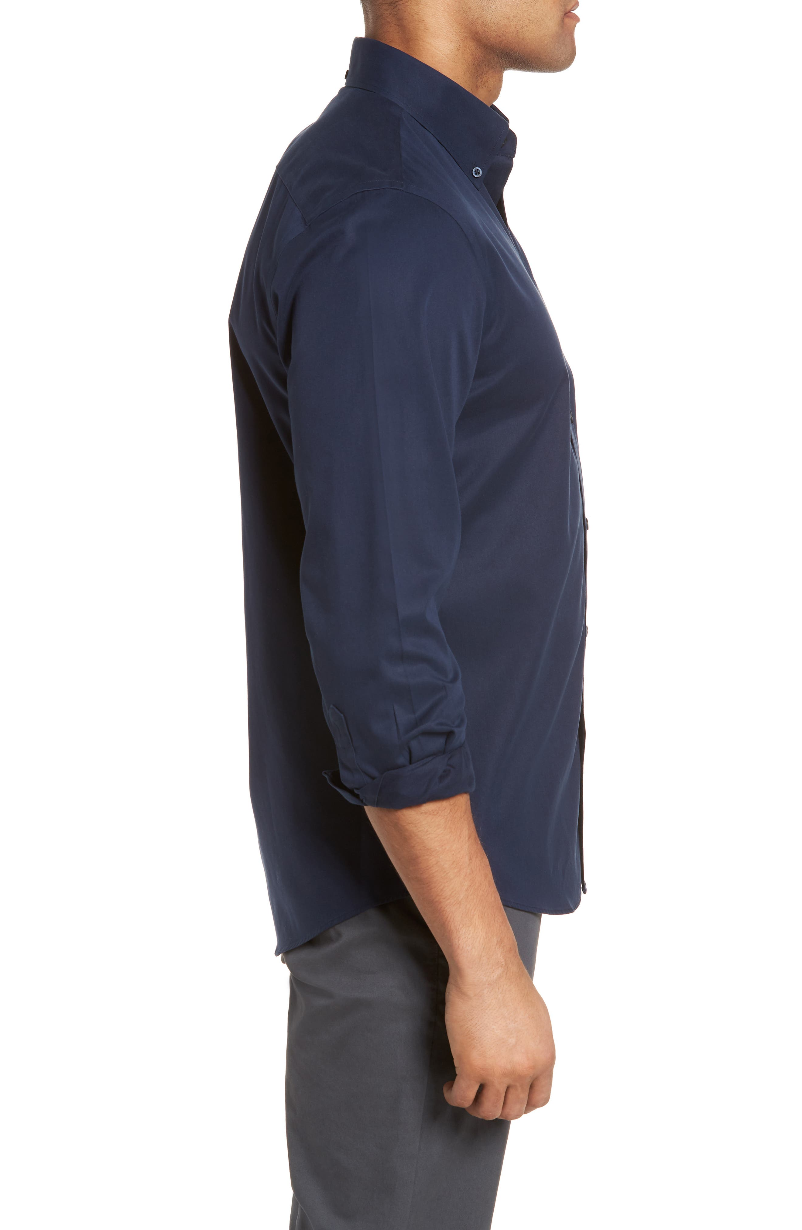 Smartcare<sup>™</sup> Traditional Fit Twill Boat Shirt,                             Alternate thumbnail 121, color,