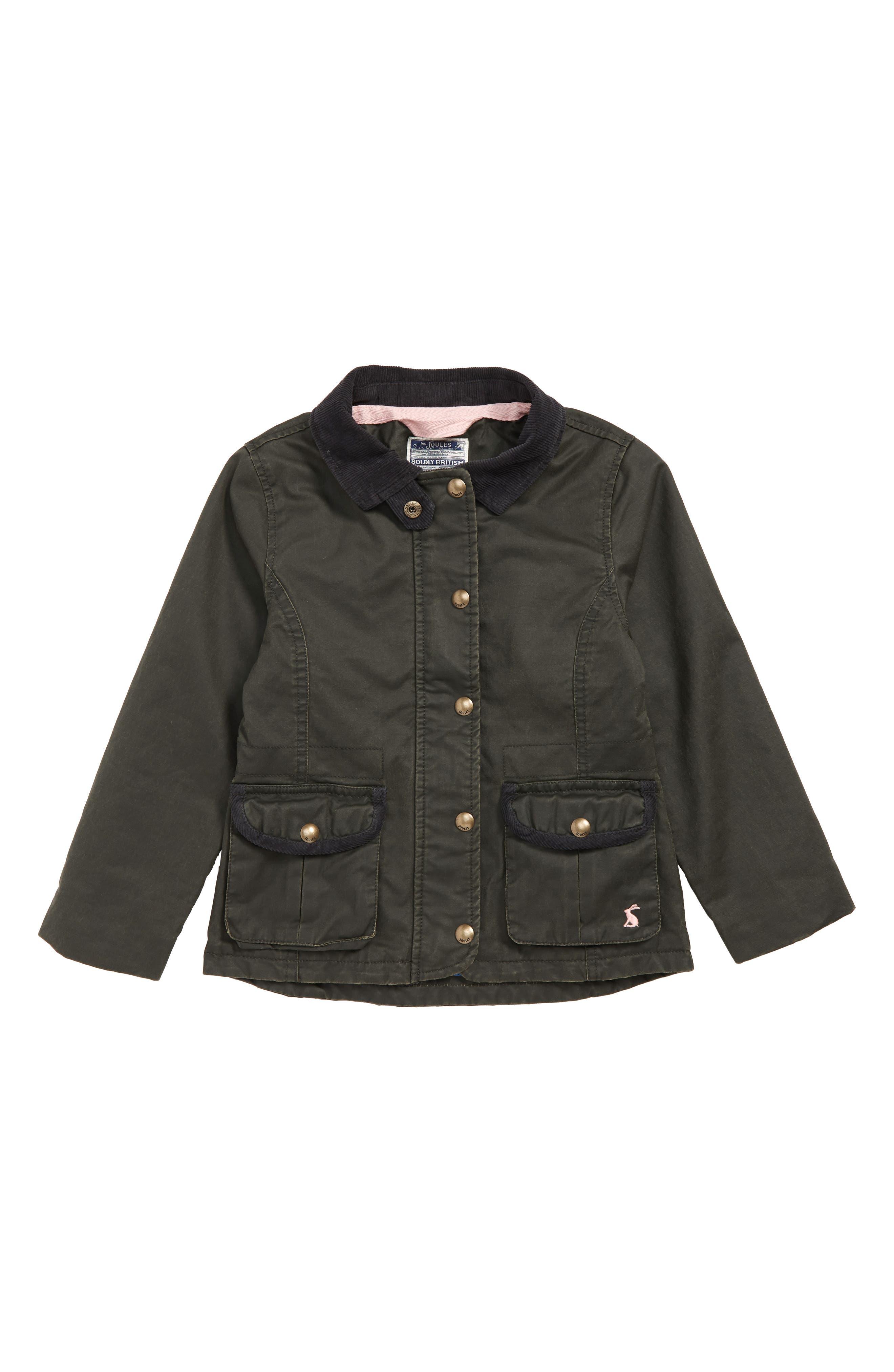 Girls Joules Waxed Field Jacket