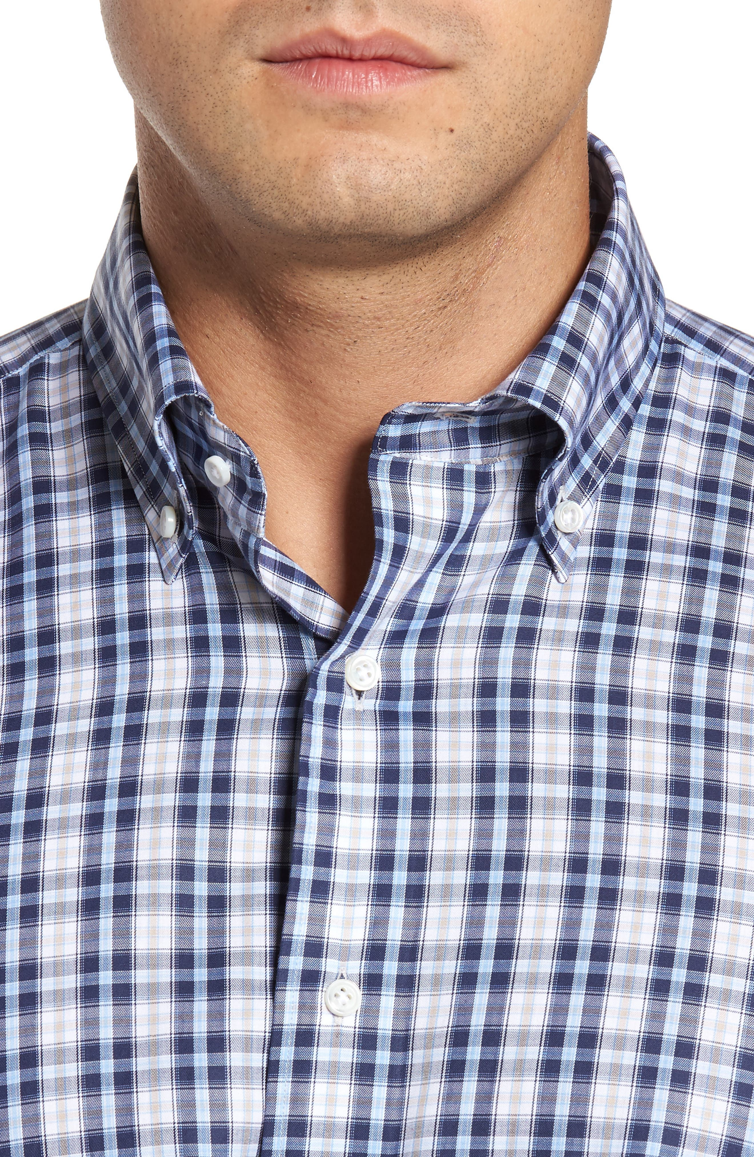 Peyto Regular Fit Plaid Sport Shirt,                             Alternate thumbnail 4, color,
