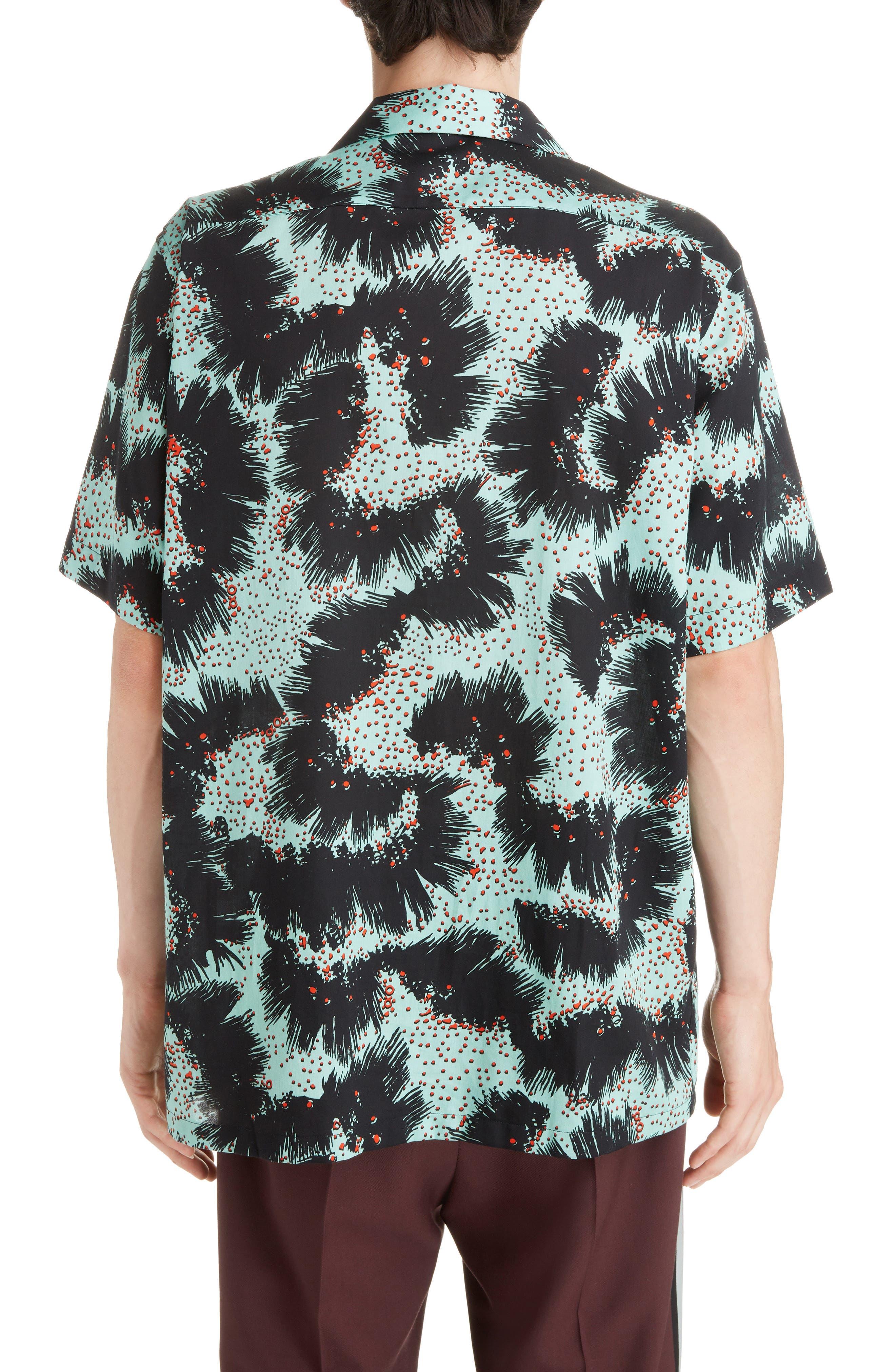 Rock Urchin Camp Shirt,                             Alternate thumbnail 3, color,                             GREEN/BLACK