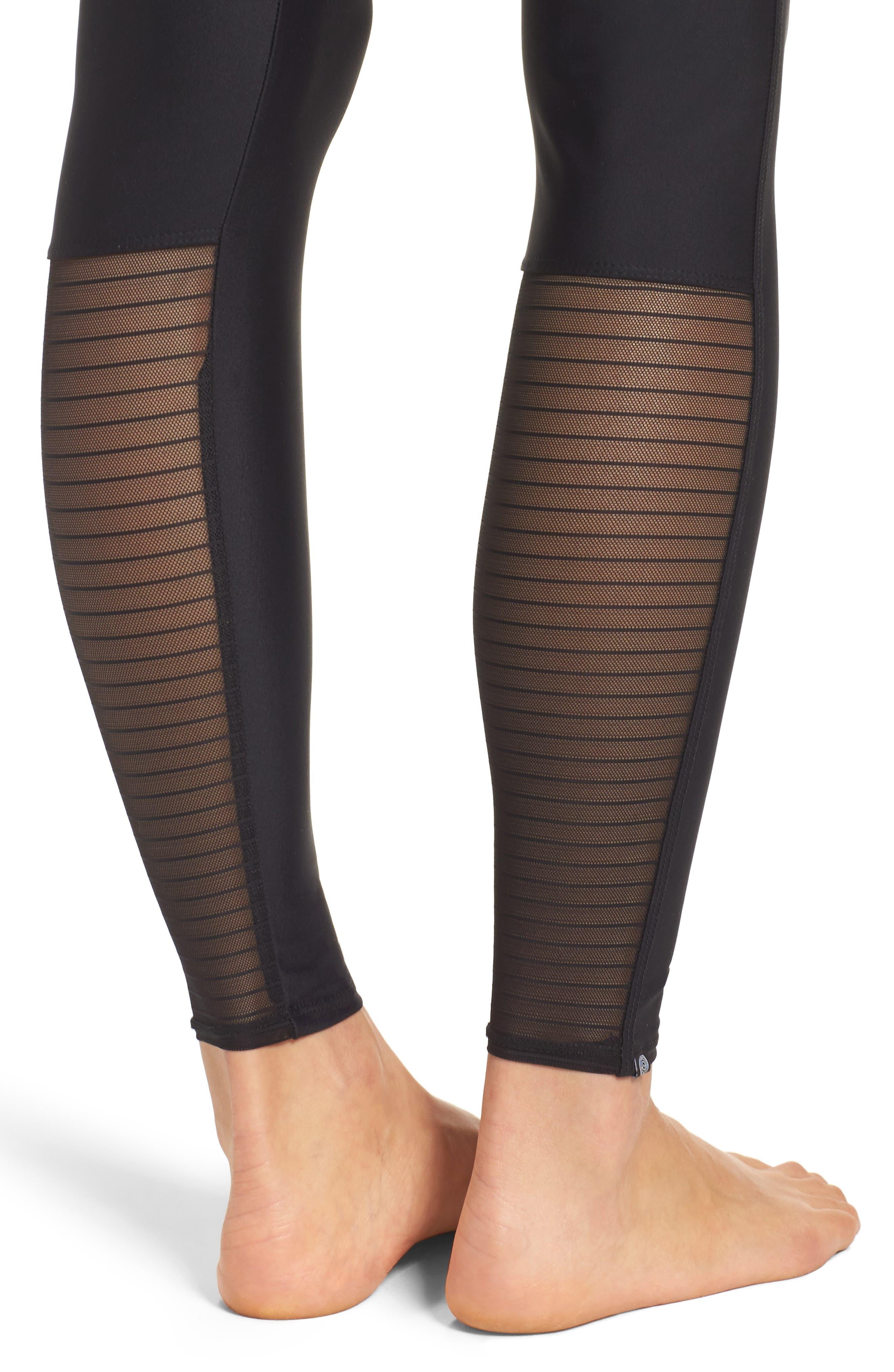 High Rise Yoga Pants,                             Alternate thumbnail 4, color,                             001