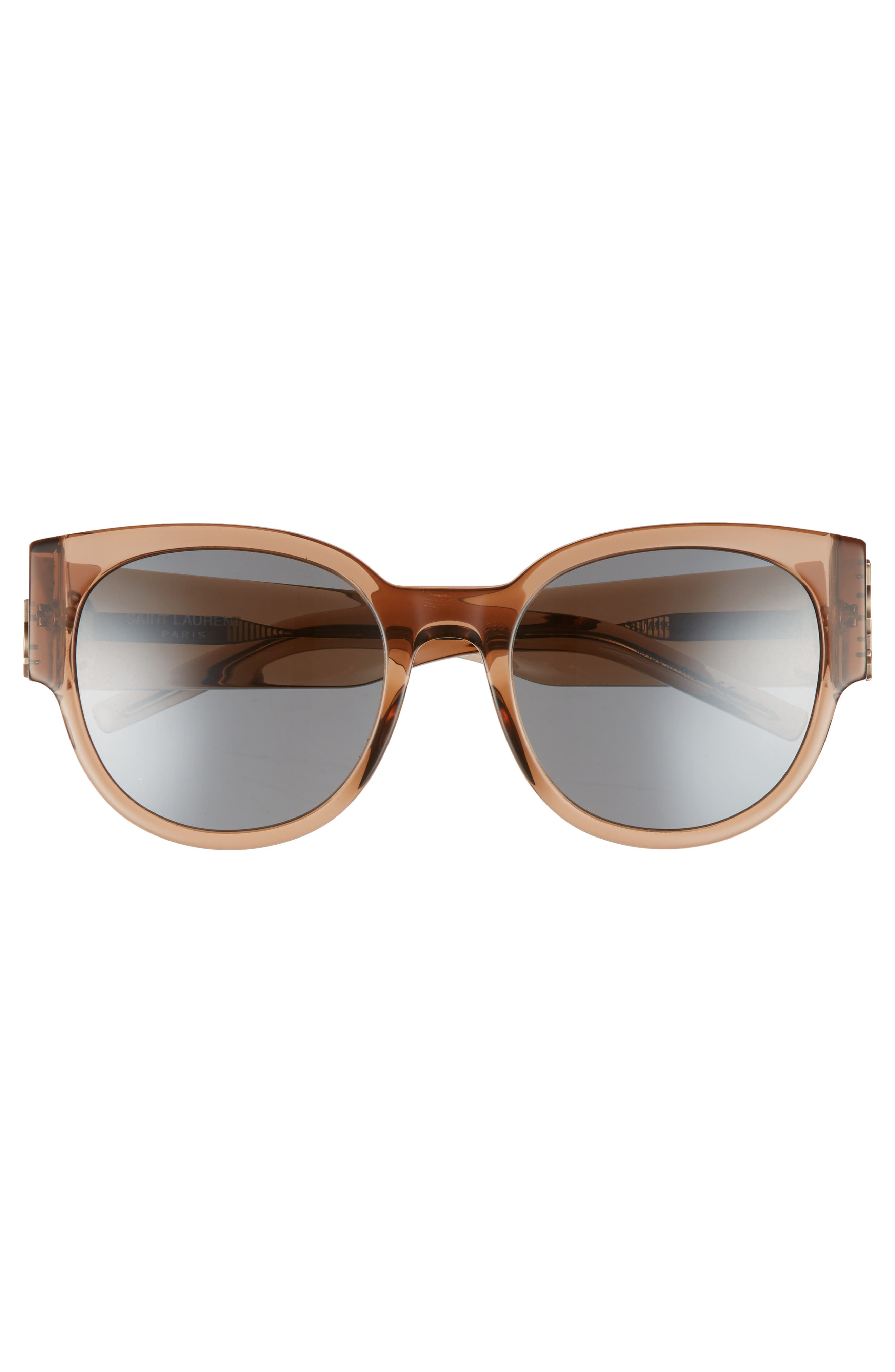 SL M19 54mm Cat Eye Sunglasses,                             Alternate thumbnail 3, color,                             NUDE