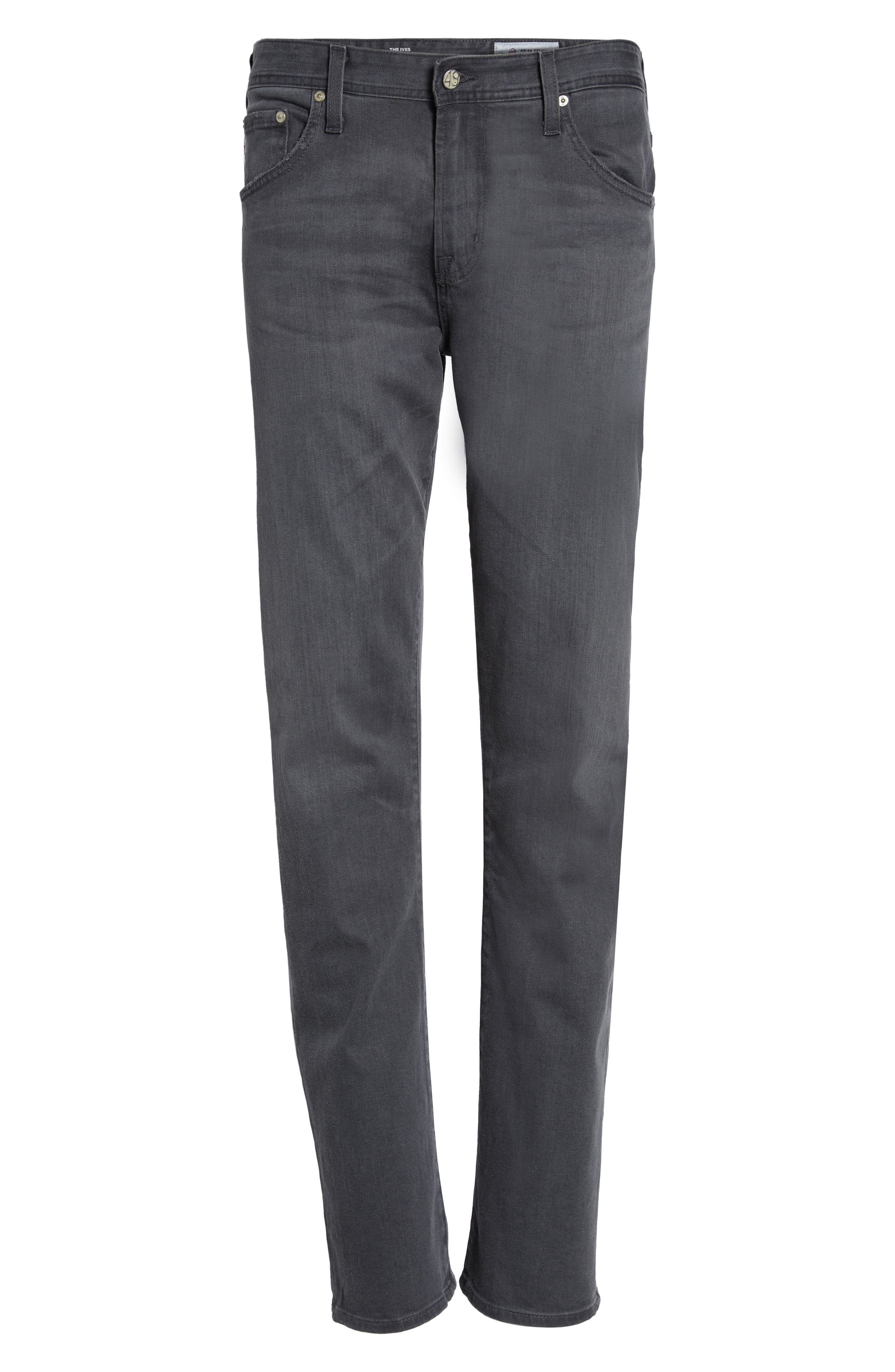 Ives Straight Leg Jeans,                             Alternate thumbnail 6, color,                             020