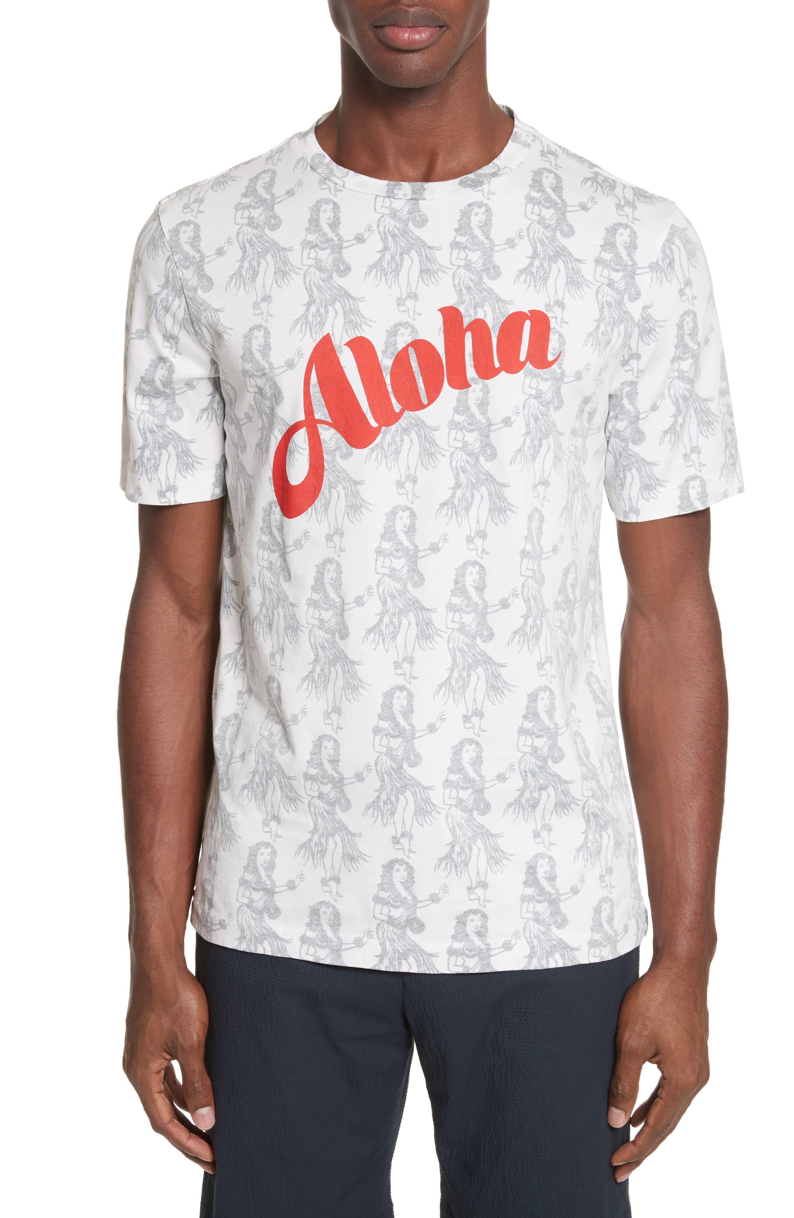 Aloha Print T-Shirt,                             Main thumbnail 1, color,