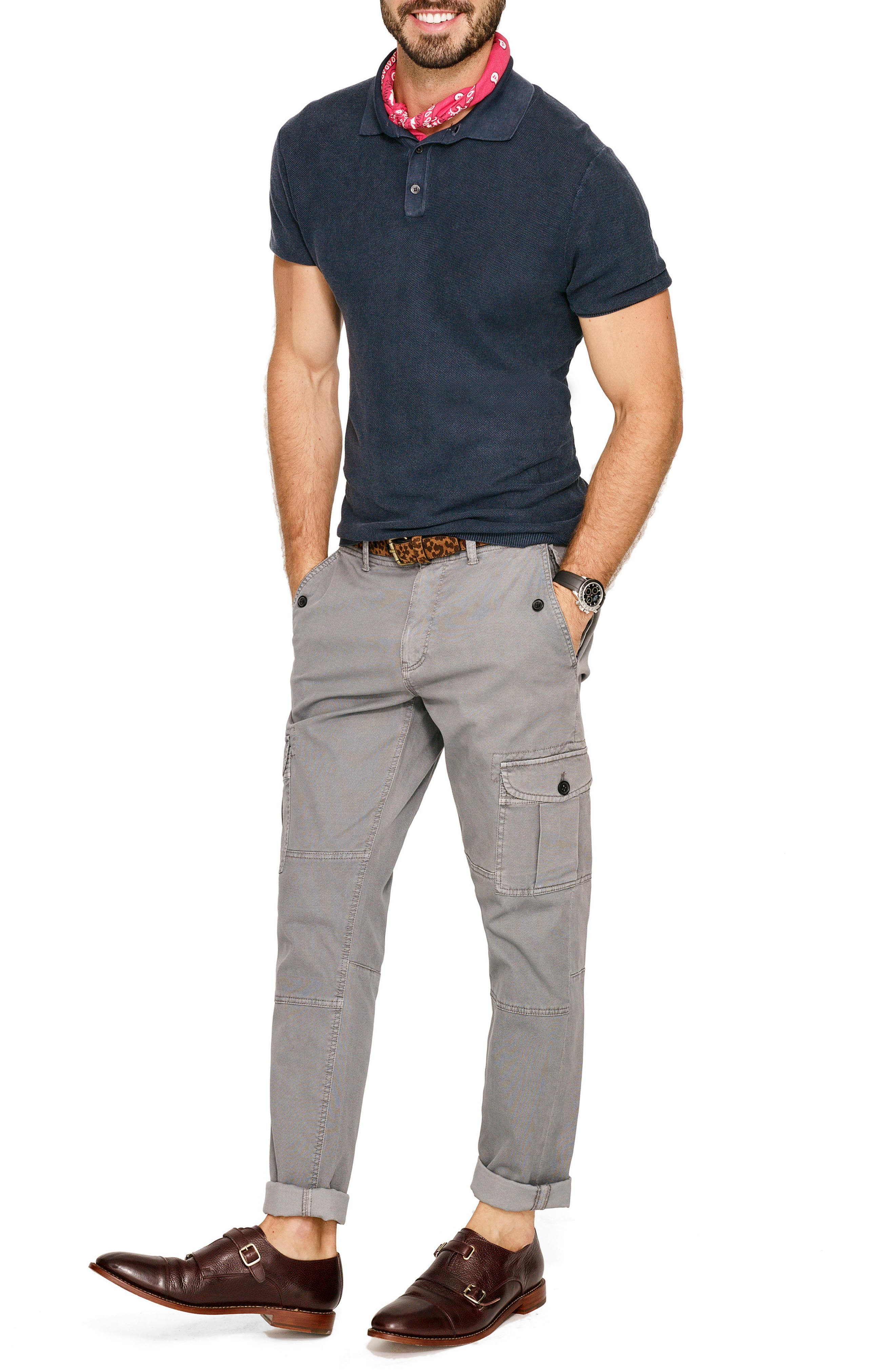 Stretch Twill Cargo Pants,                             Alternate thumbnail 7, color,                             033