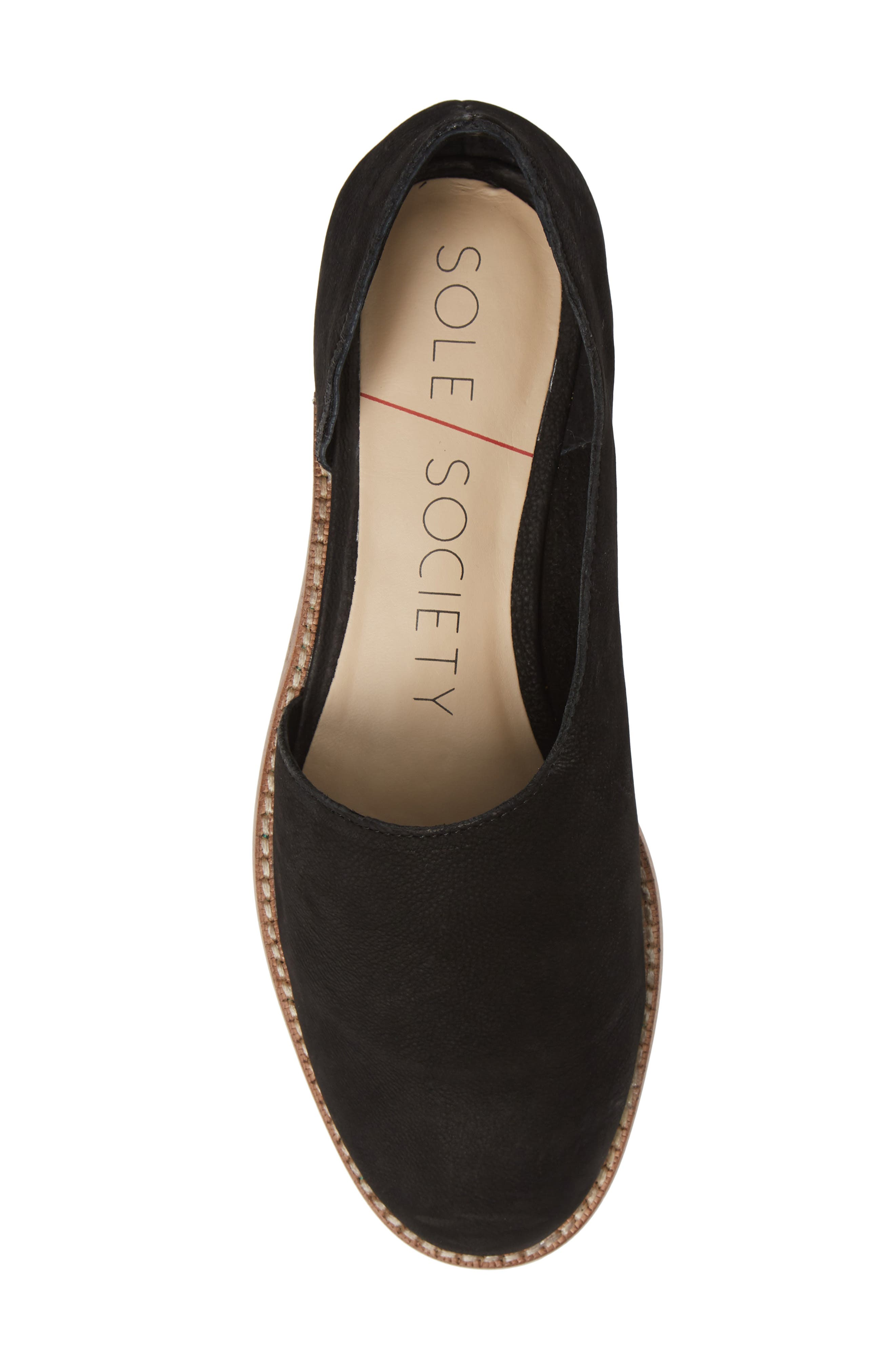Betianne Flat,                             Alternate thumbnail 5, color,                             BLACK NUBUCK