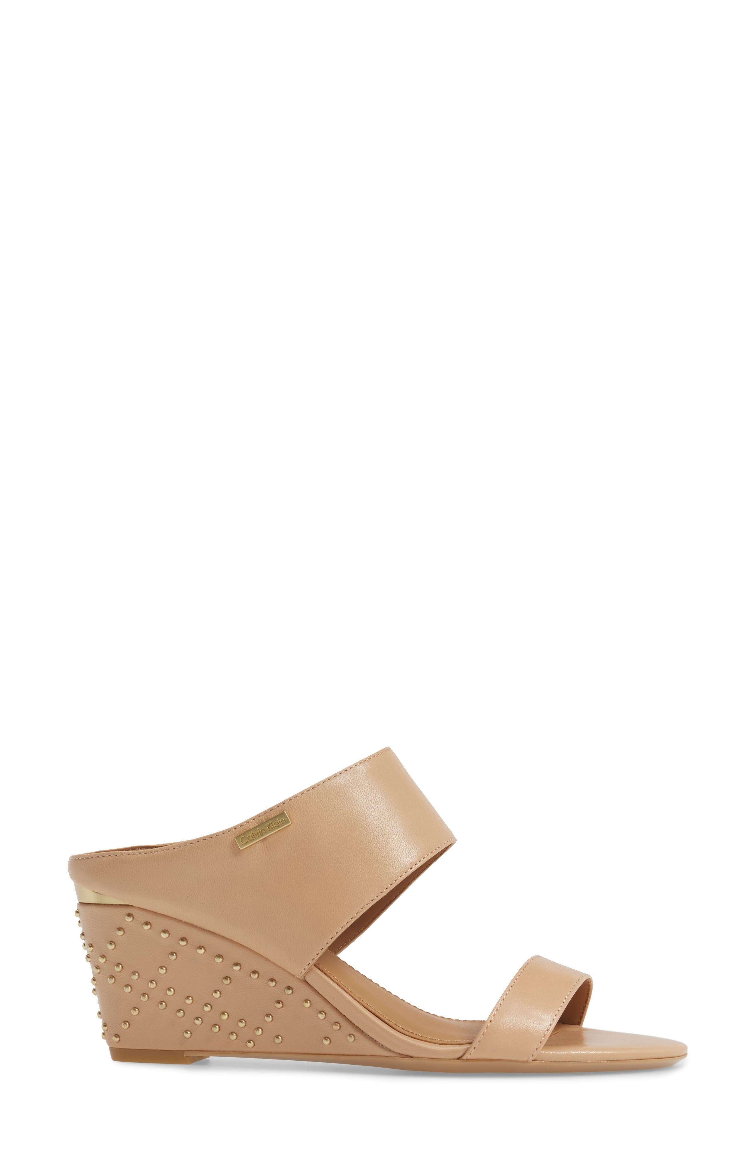 Phyllis Studded Wedge Sandal,                             Alternate thumbnail 12, color,