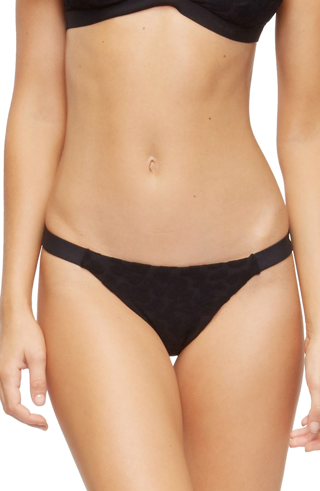Heather Bikini Bottoms,                         Main,                         color, TEXTURED CHEETAH BLACK