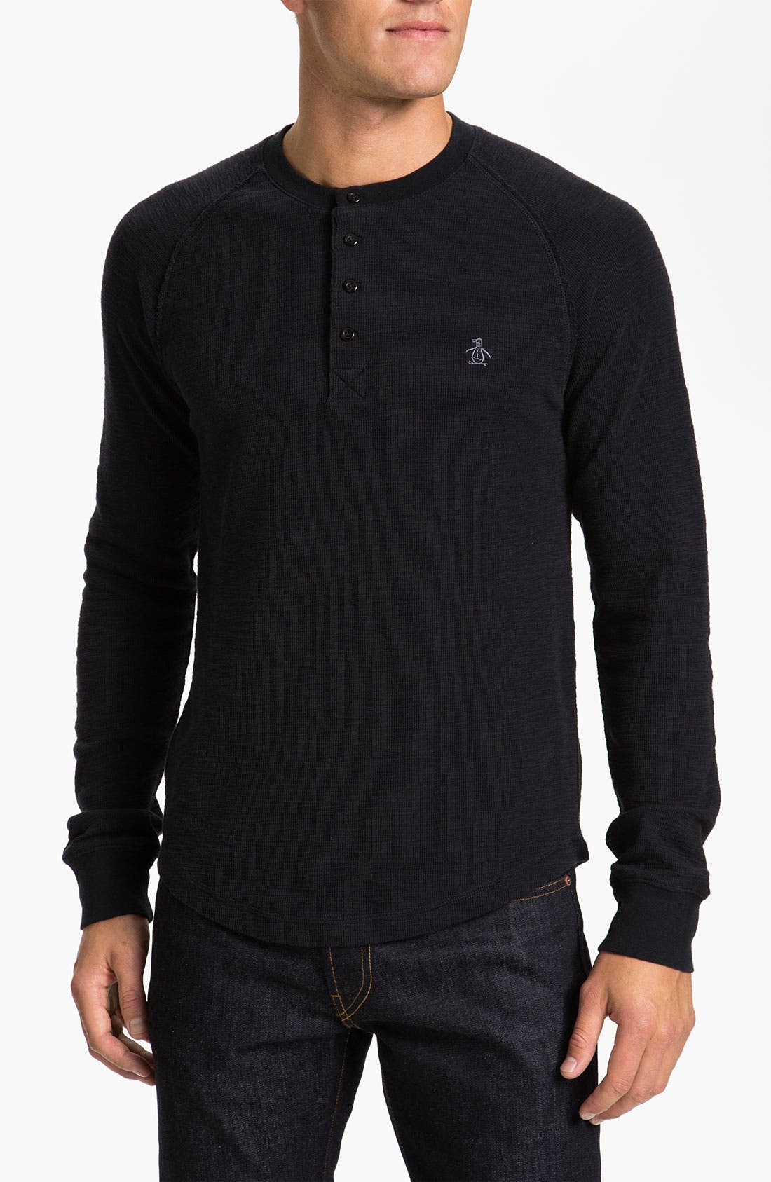 Thermal Cotton Henley,                         Main,                         color, 010