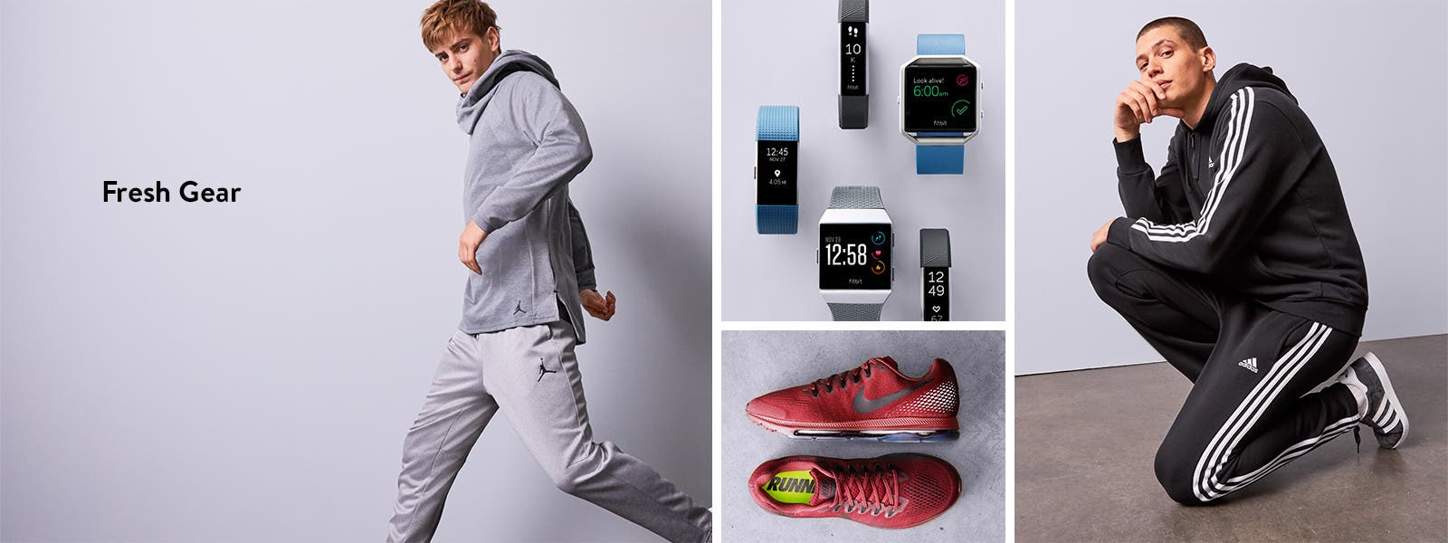 Fresh gear: men's workout clothes, shoes and accessories.