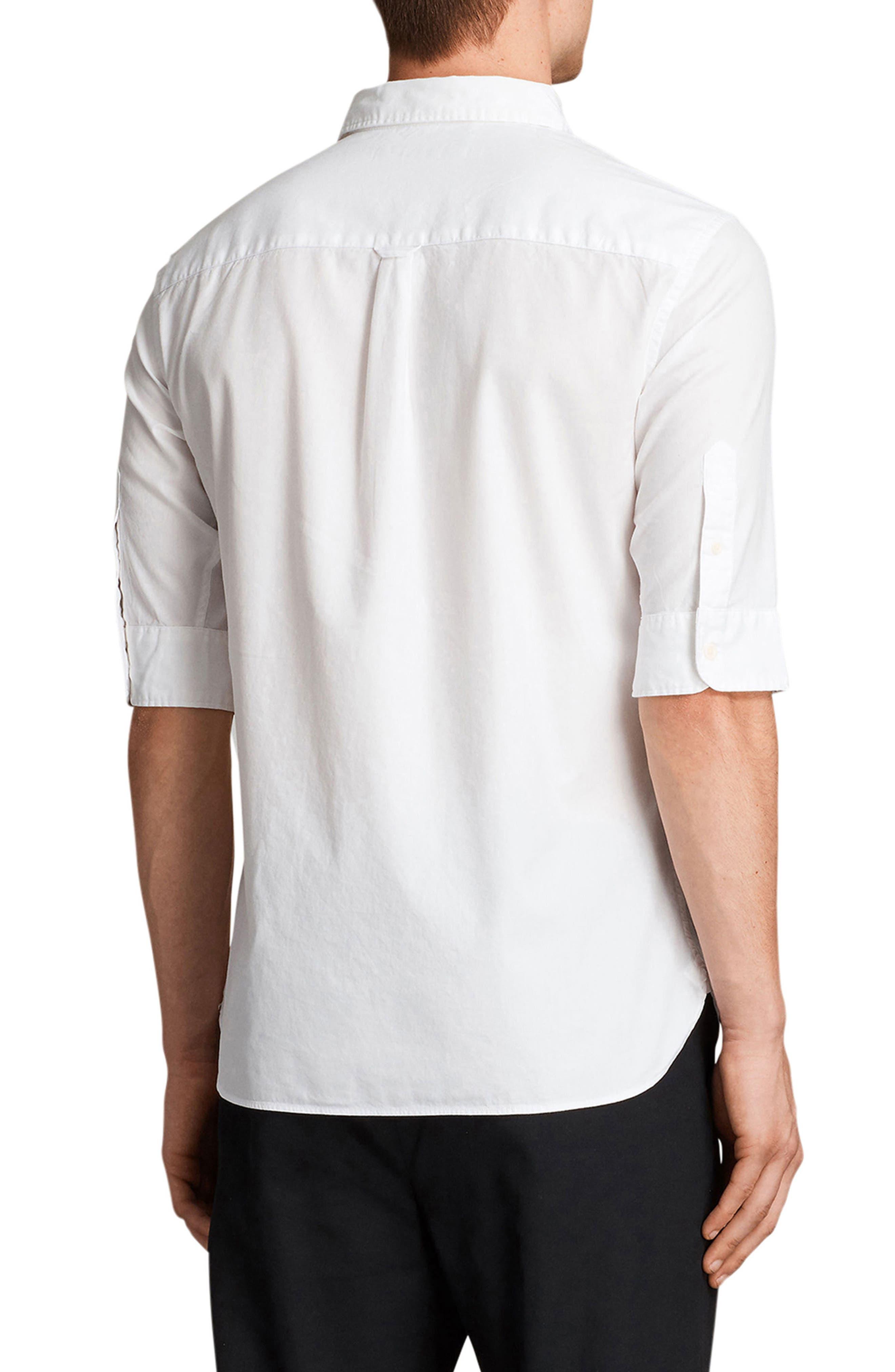 Redondo Slim Fit Sport Shirt,                             Alternate thumbnail 2, color,                             WHITE