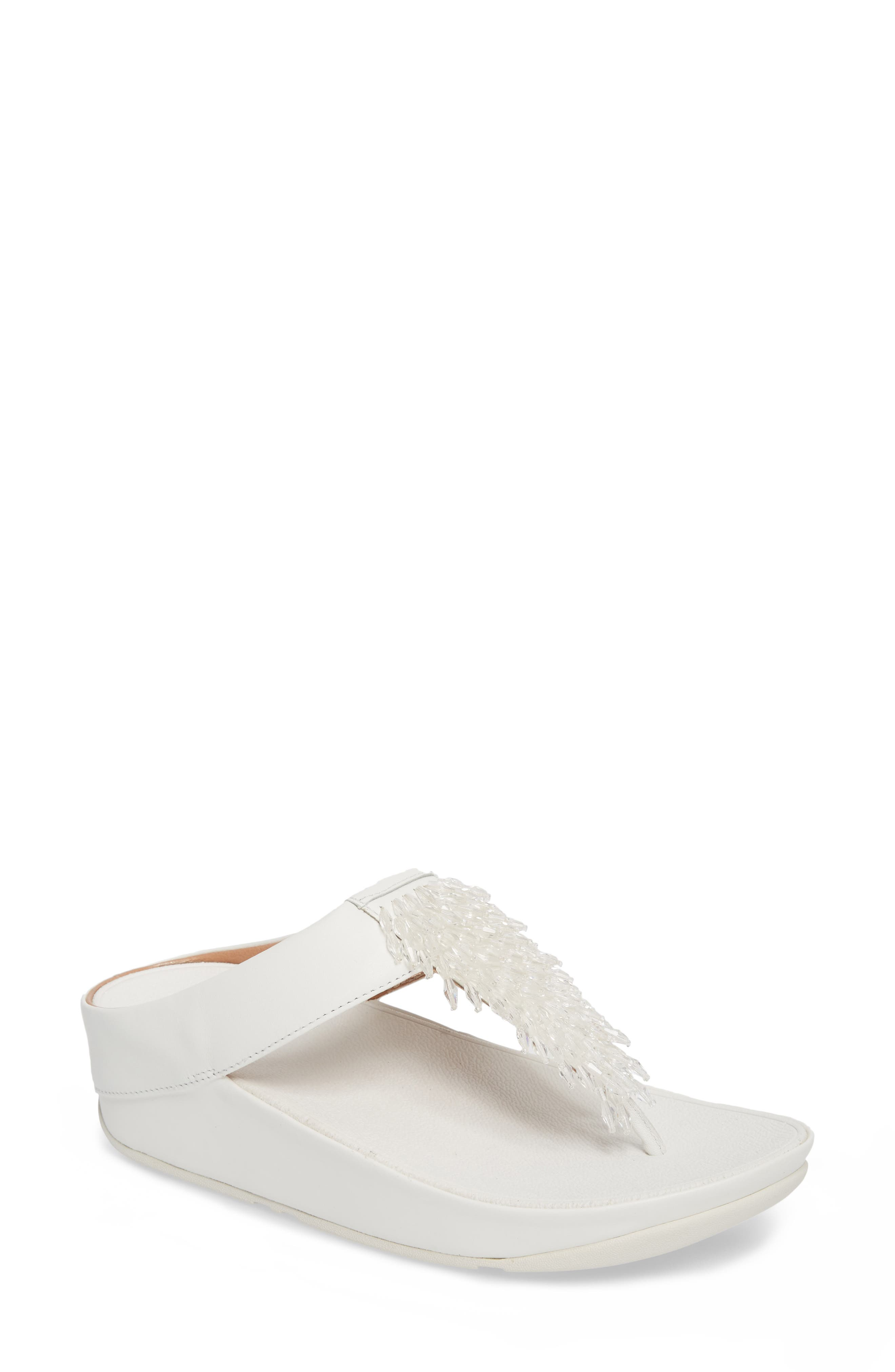 FITFLOP,                             Rumba Sandal,                             Main thumbnail 1, color,                             URBAN WHITE LEATHER