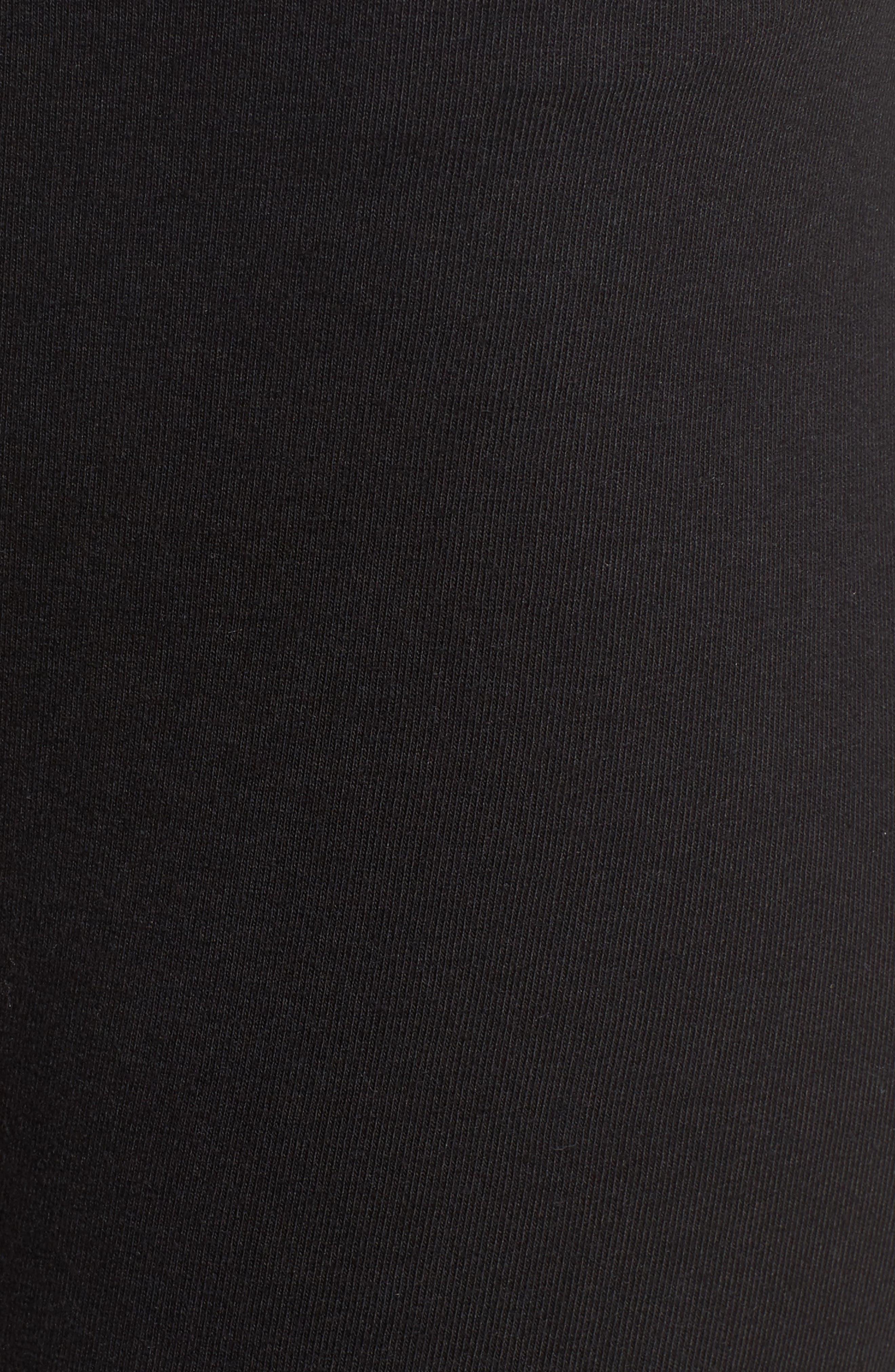 Lace Block Skimmer Leggings,                             Alternate thumbnail 5, color,                             001