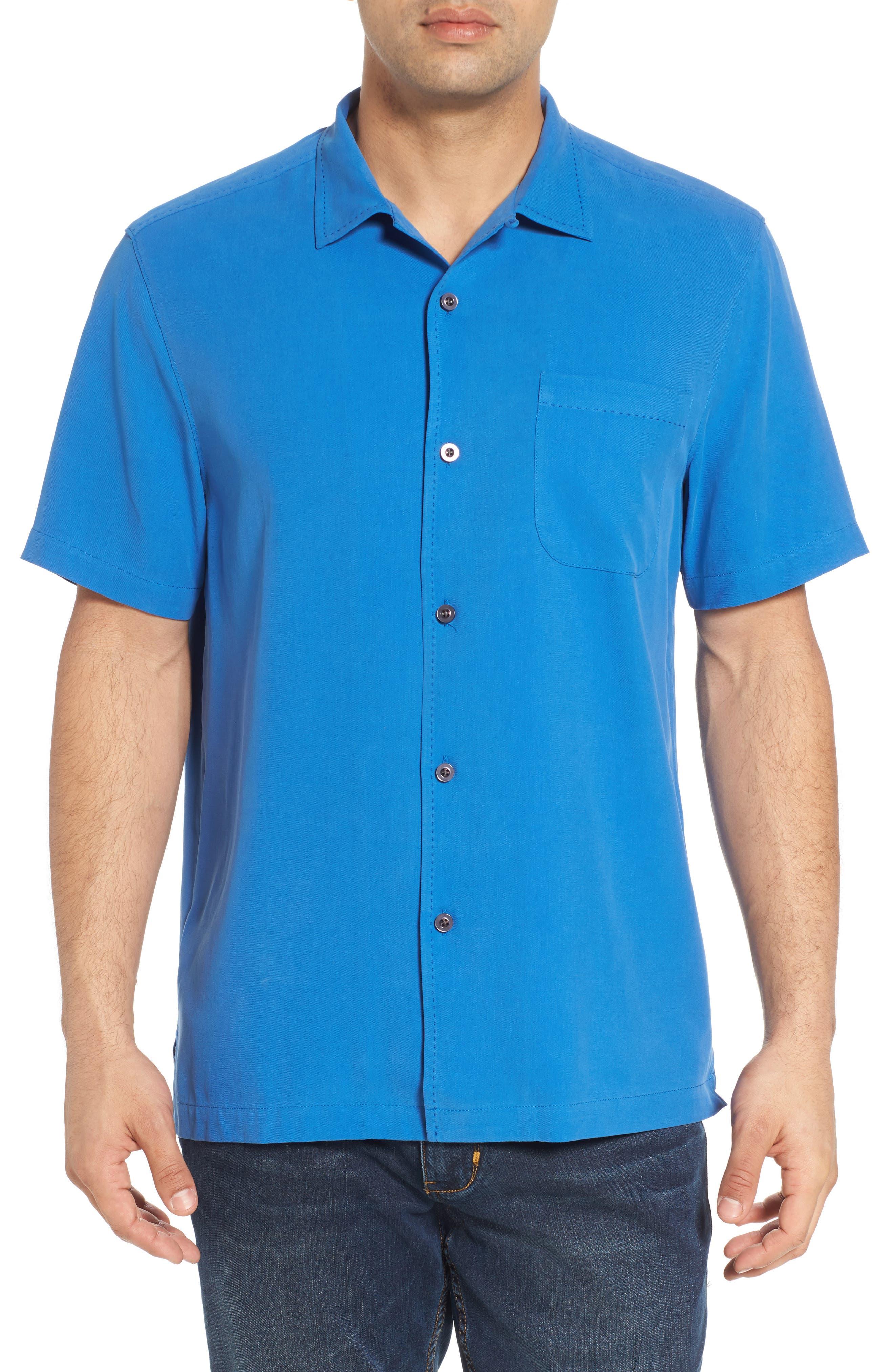 Catalina Twill Sport Shirt,                         Main,                         color, NAVY