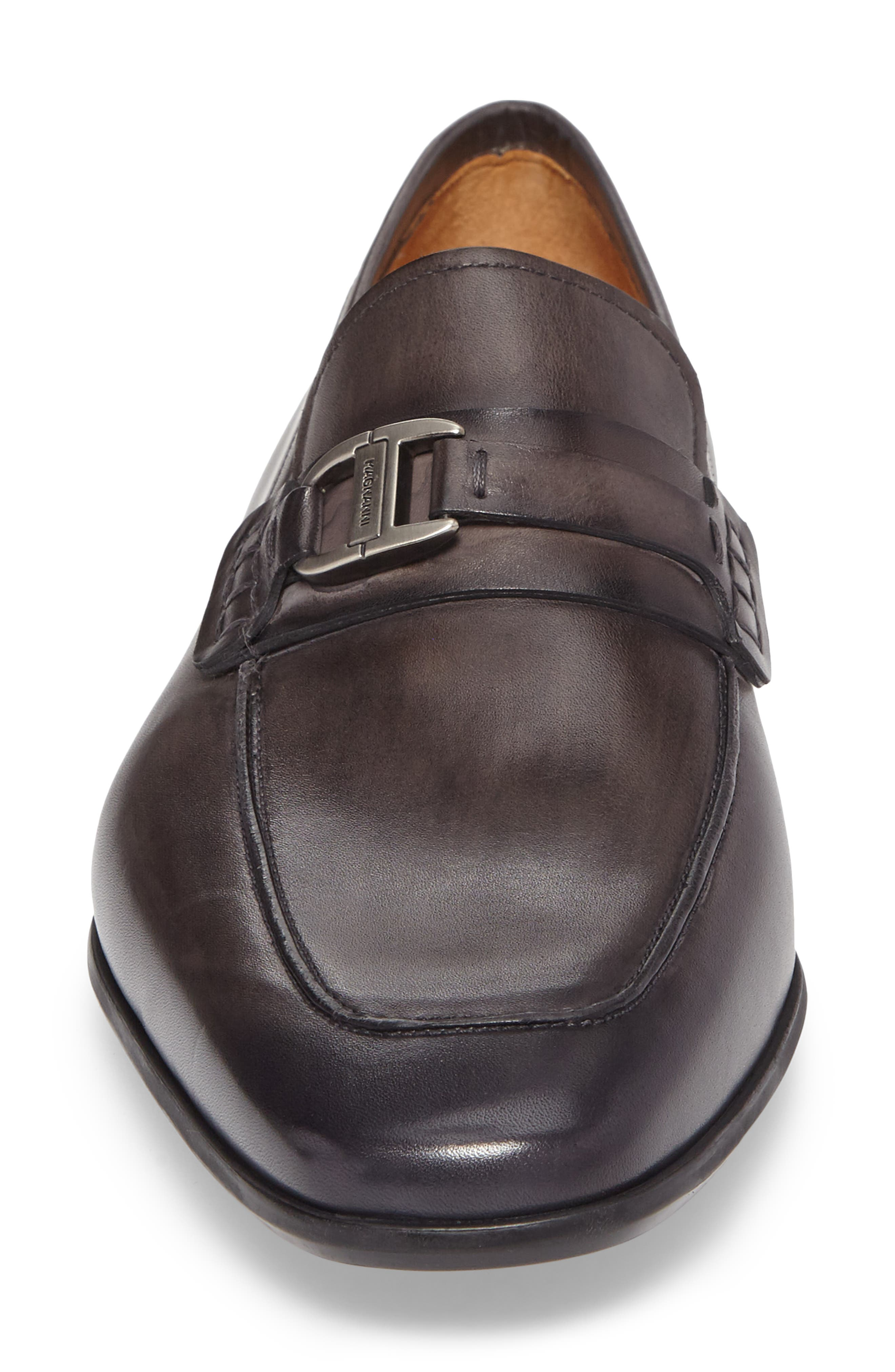 Rufino Bit Loafer,                             Alternate thumbnail 4, color,                             GREY LEATHER