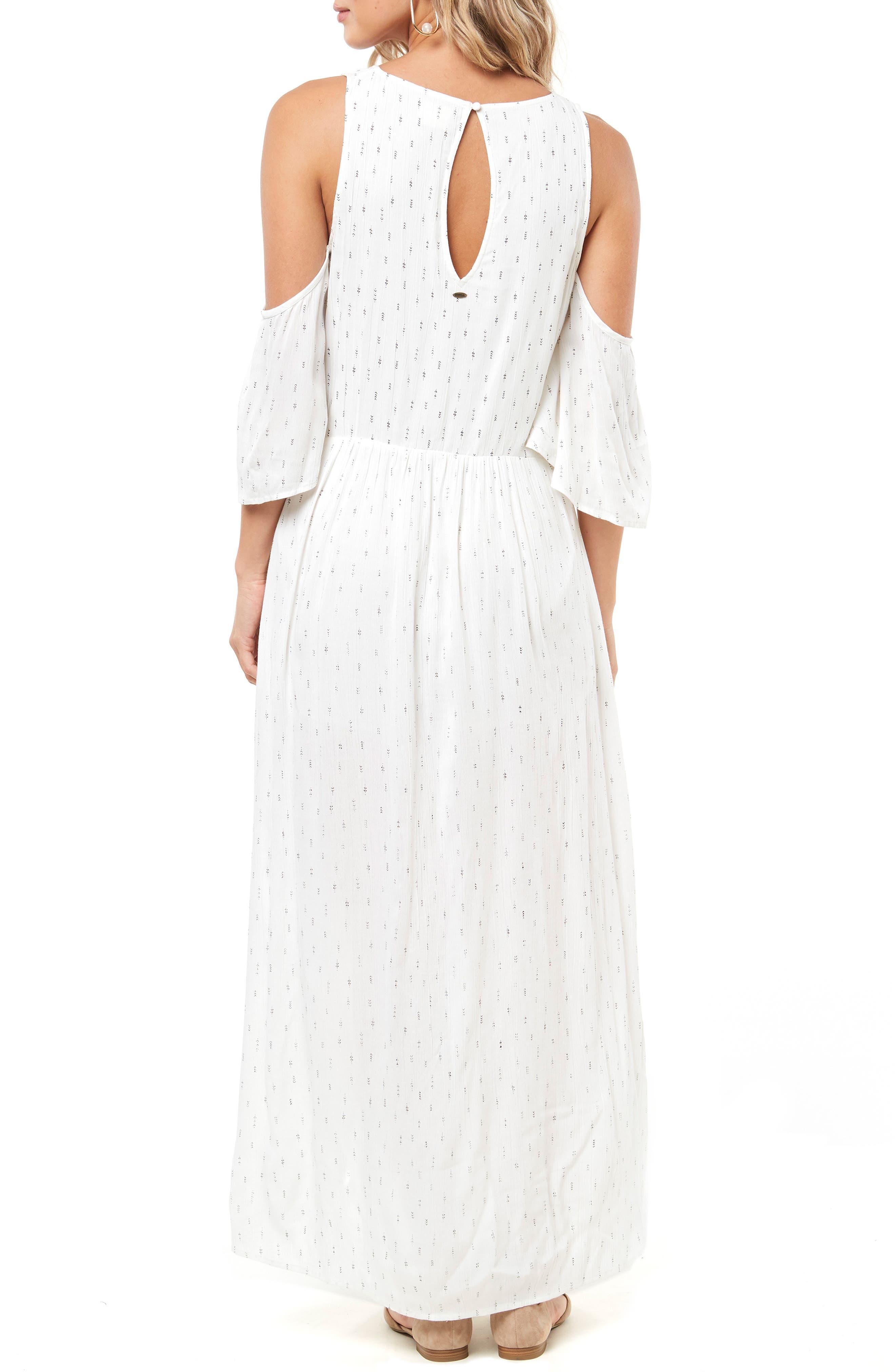 Blake Cold Shoulder Maxi Dress,                             Alternate thumbnail 2, color,                             NAKED