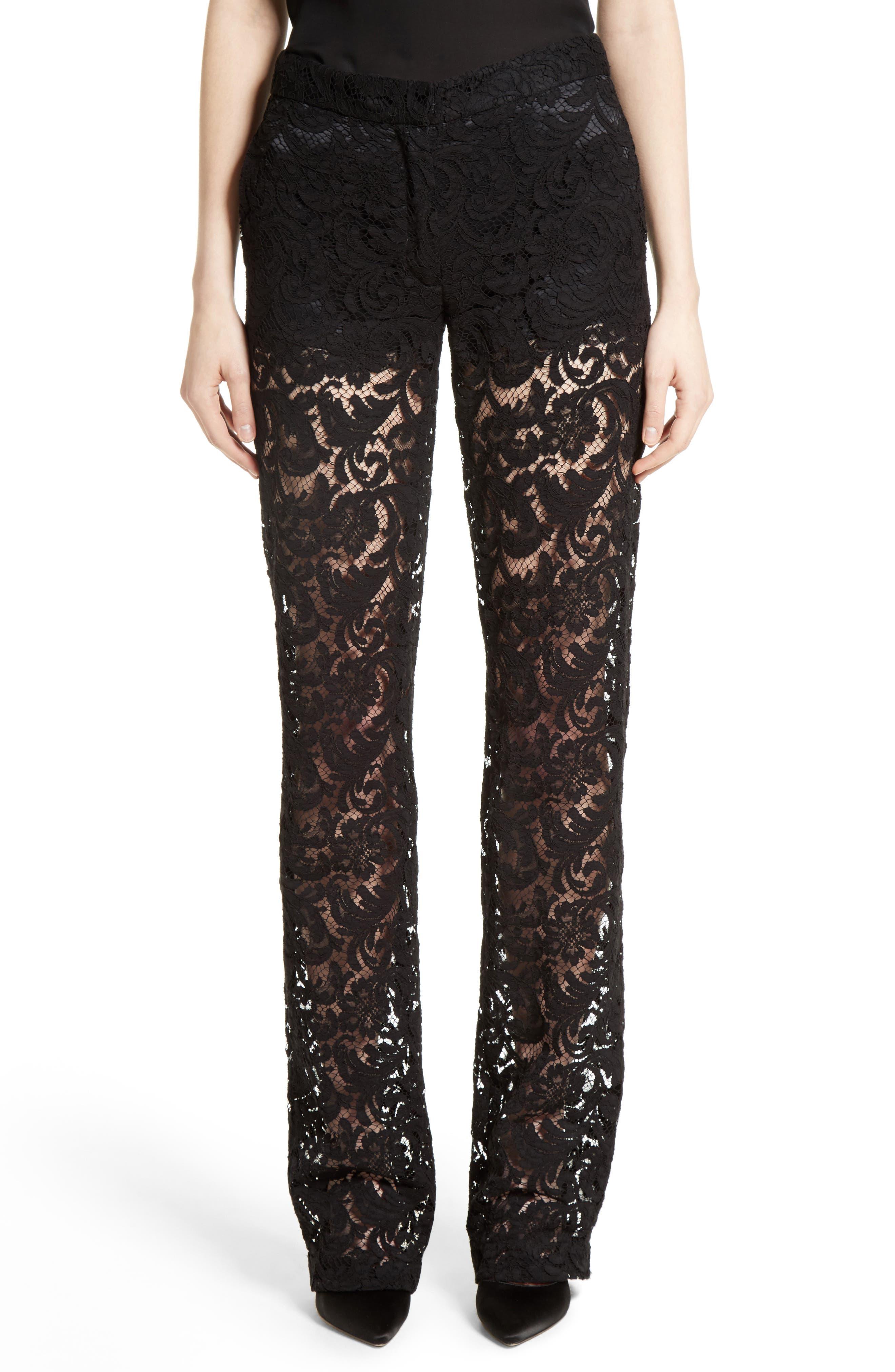 Lace Tuxedo Pants,                             Main thumbnail 1, color,                             001