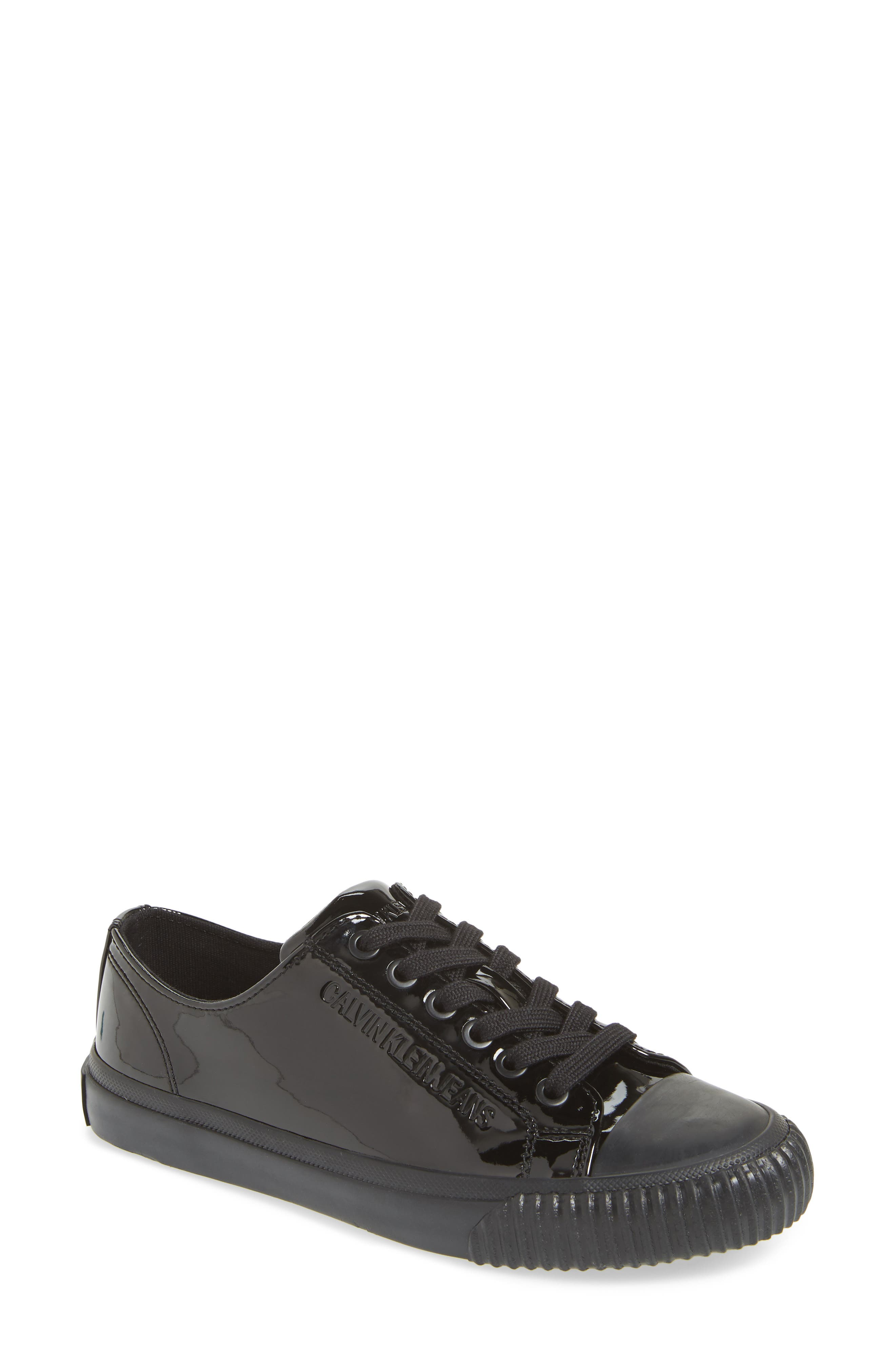 Ireland Lace-Up Sneaker,                             Main thumbnail 1, color,                             BLACK