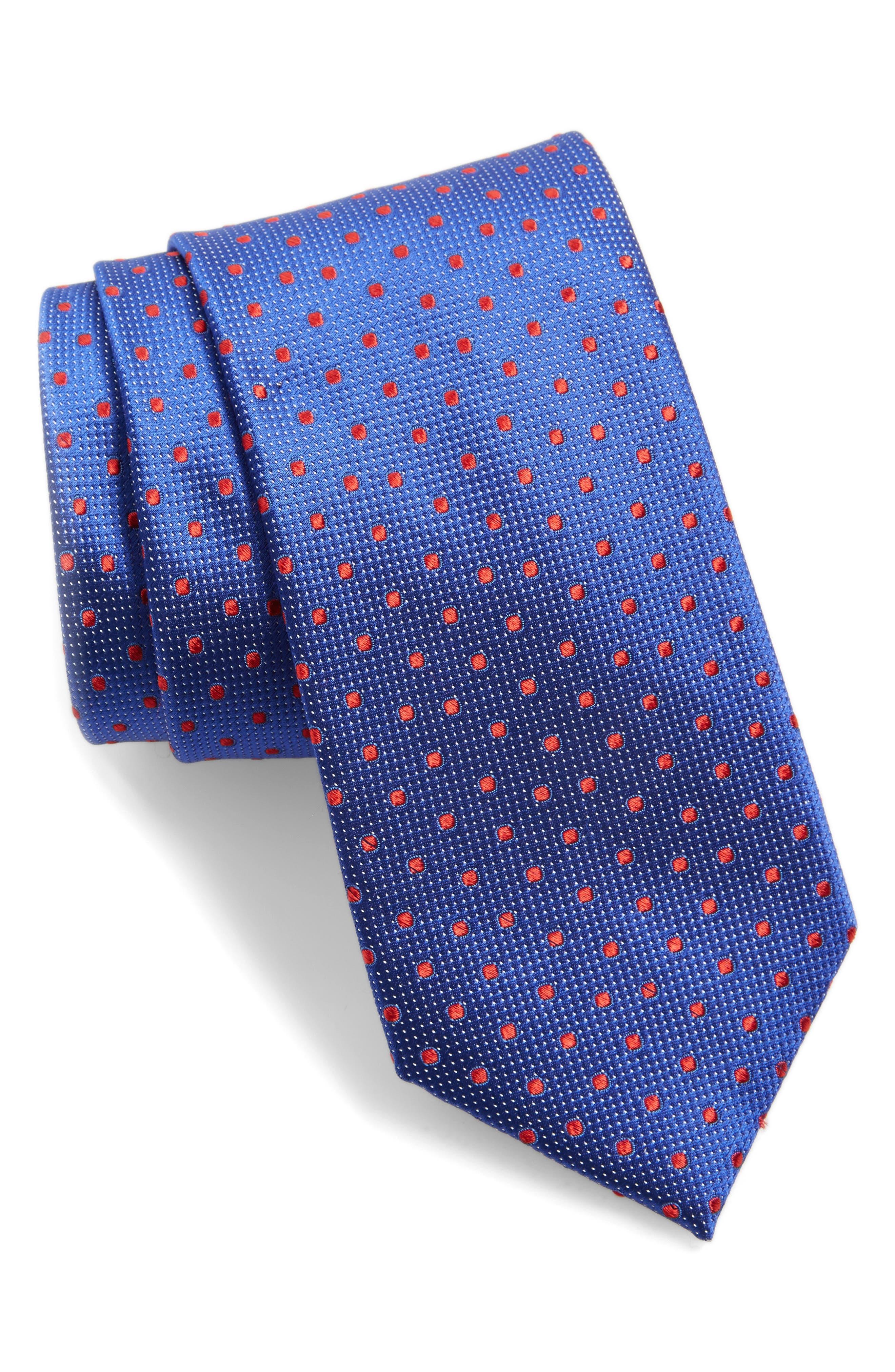 Double Dot Silk Tie,                             Main thumbnail 3, color,