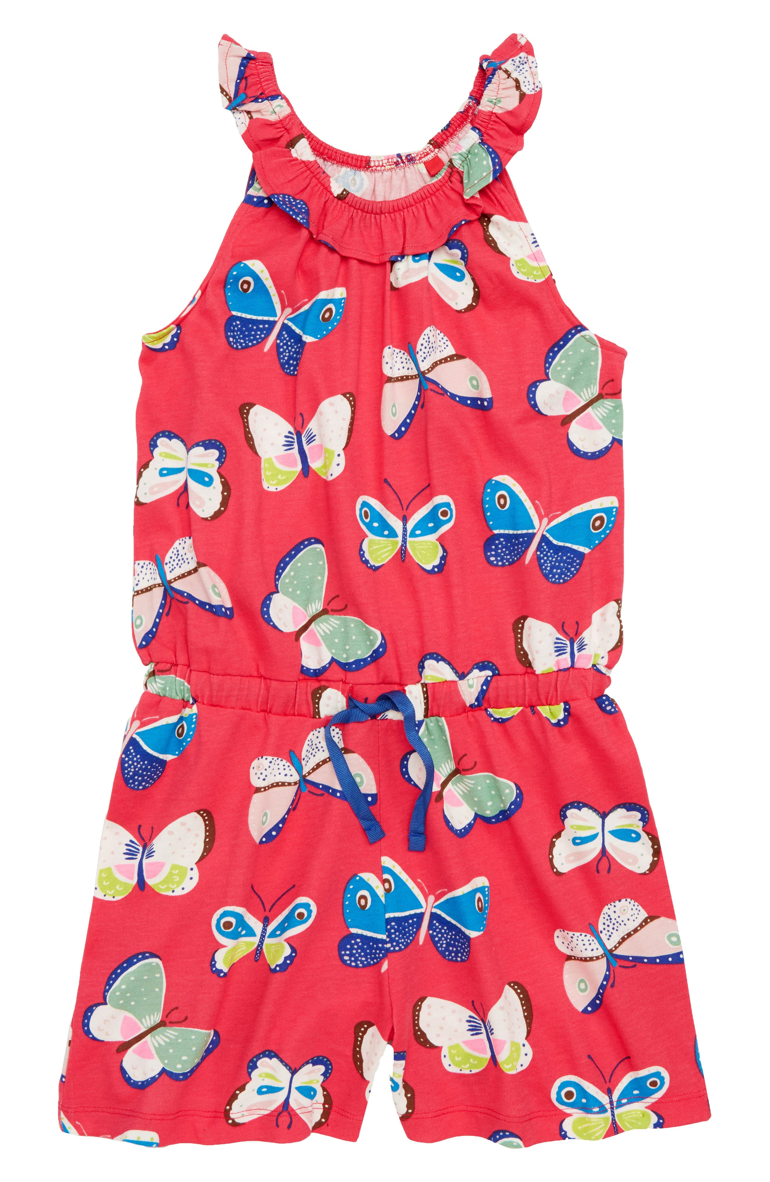 Butterfly Jersey Romper,                             Main thumbnail 1, color,                             614