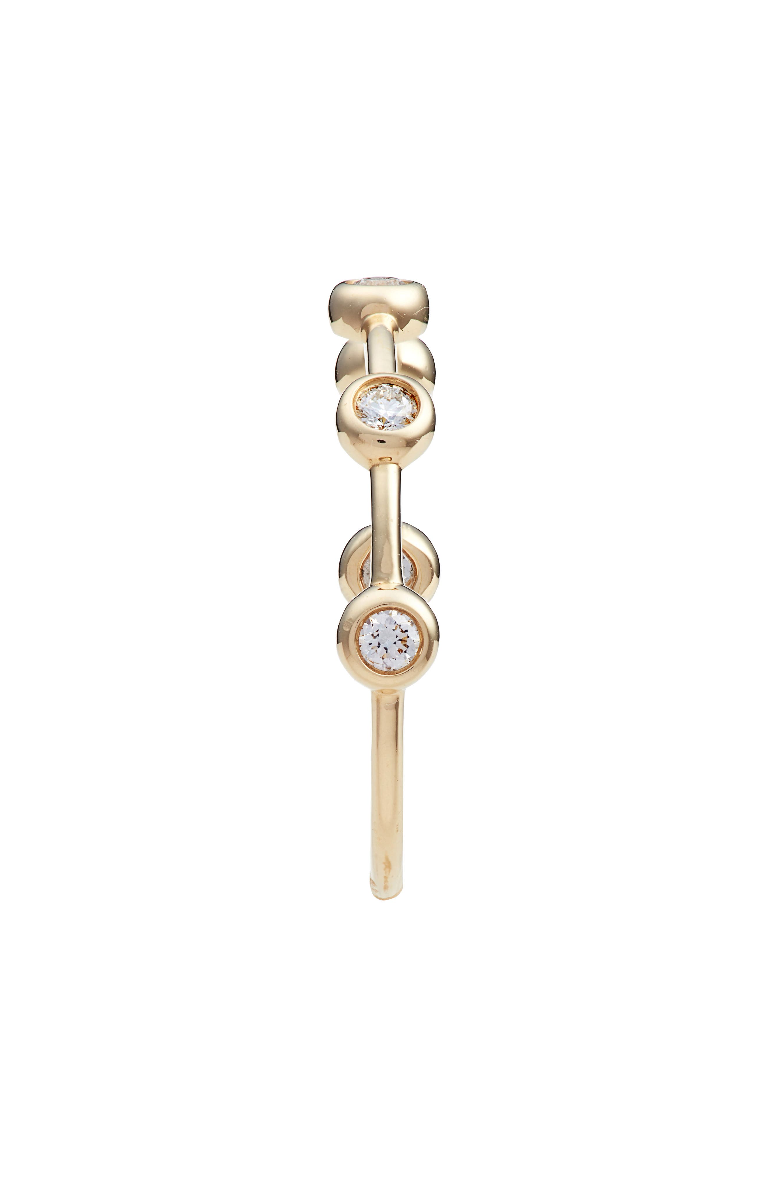 Monaco Bezel Diamond Ring,                             Alternate thumbnail 2, color,                             YELLOW GOLD/ DIA